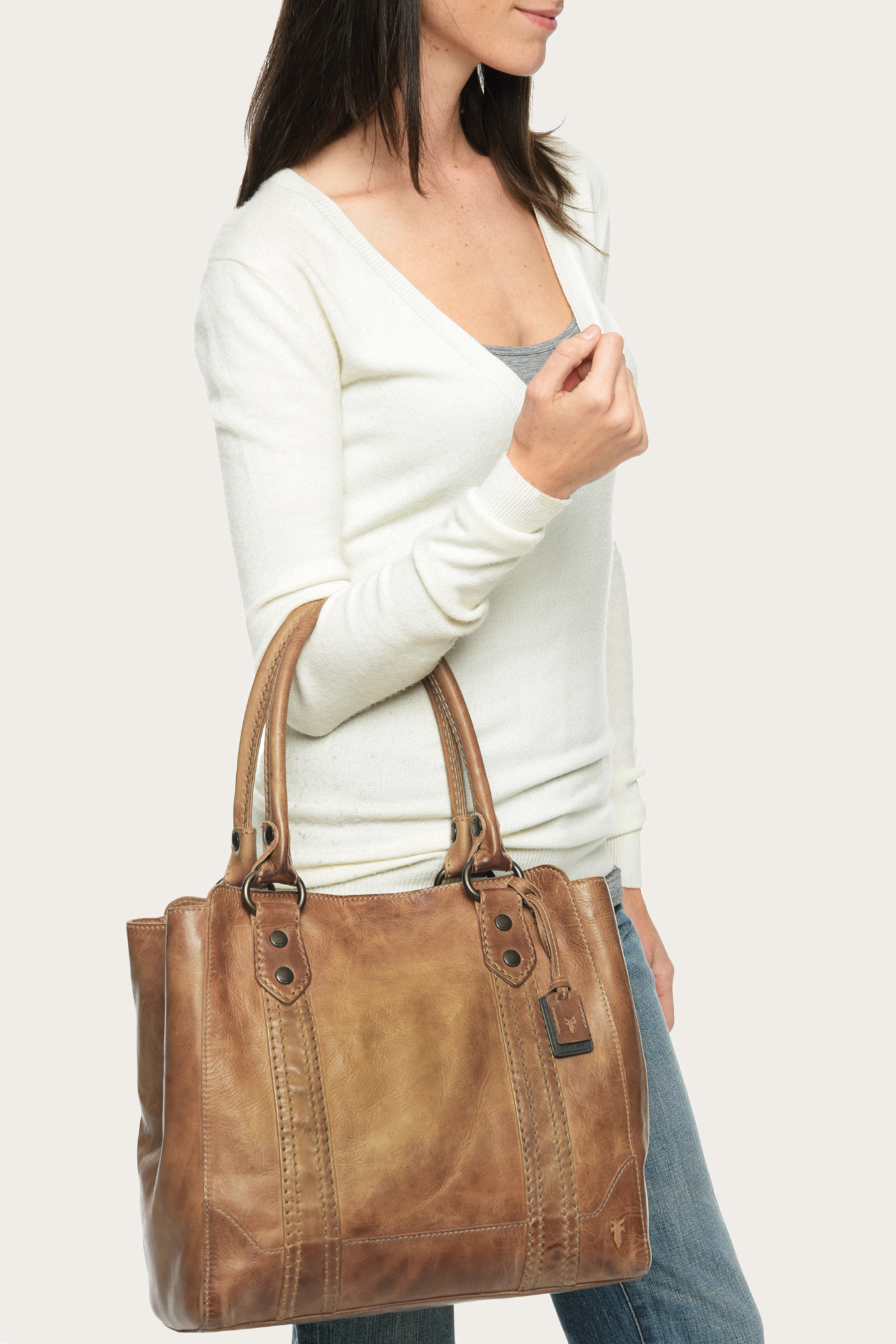 7d93a2233be8 Frye Melissa Tote in Brown - Lyst