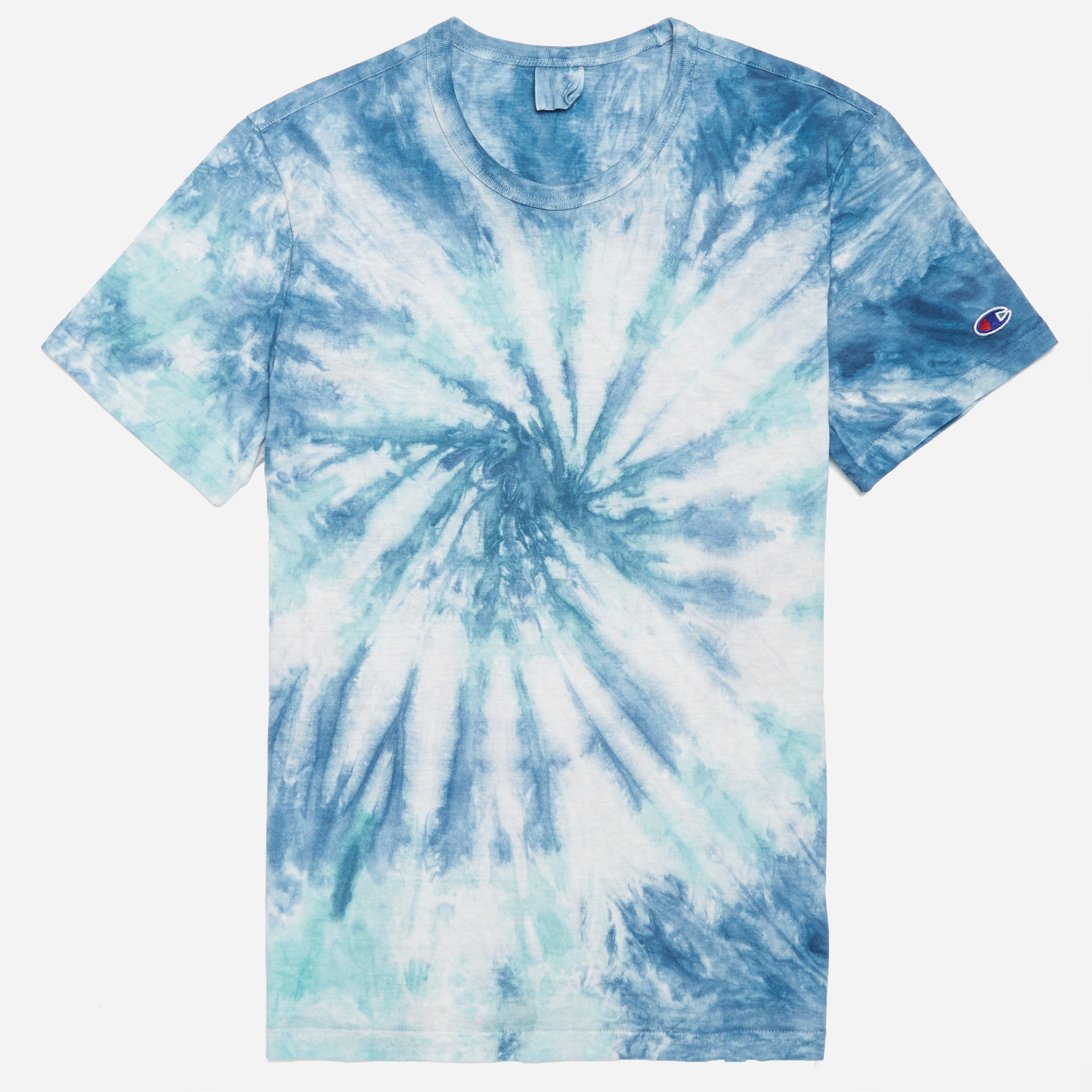 5f9df68ff0a5 Champion Crewneck Tie Dye T-shirt in Blue for Men - Lyst