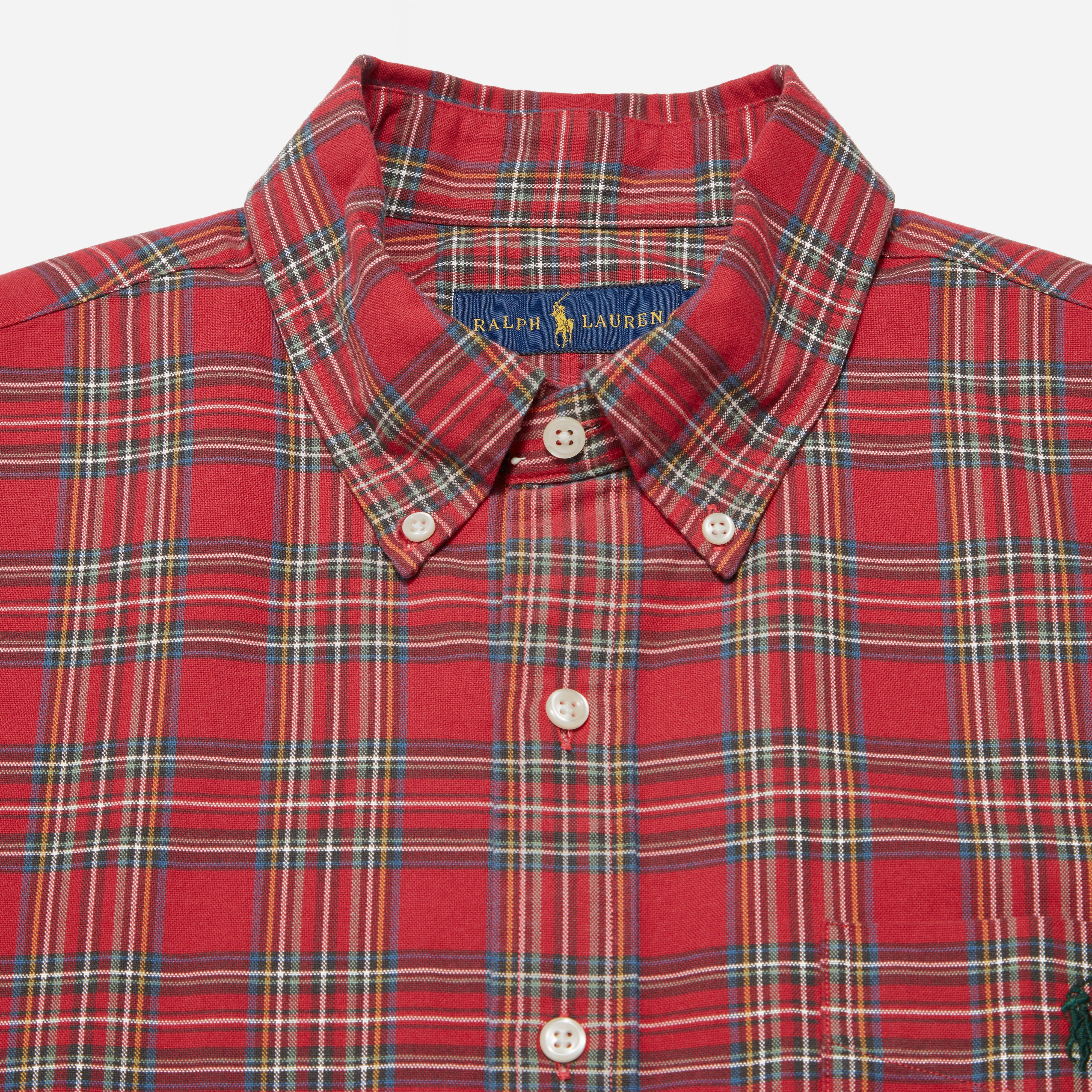 a2b09c0e1cb Lyst - Polo Ralph Lauren Oxford Check Shirt in Red for Men