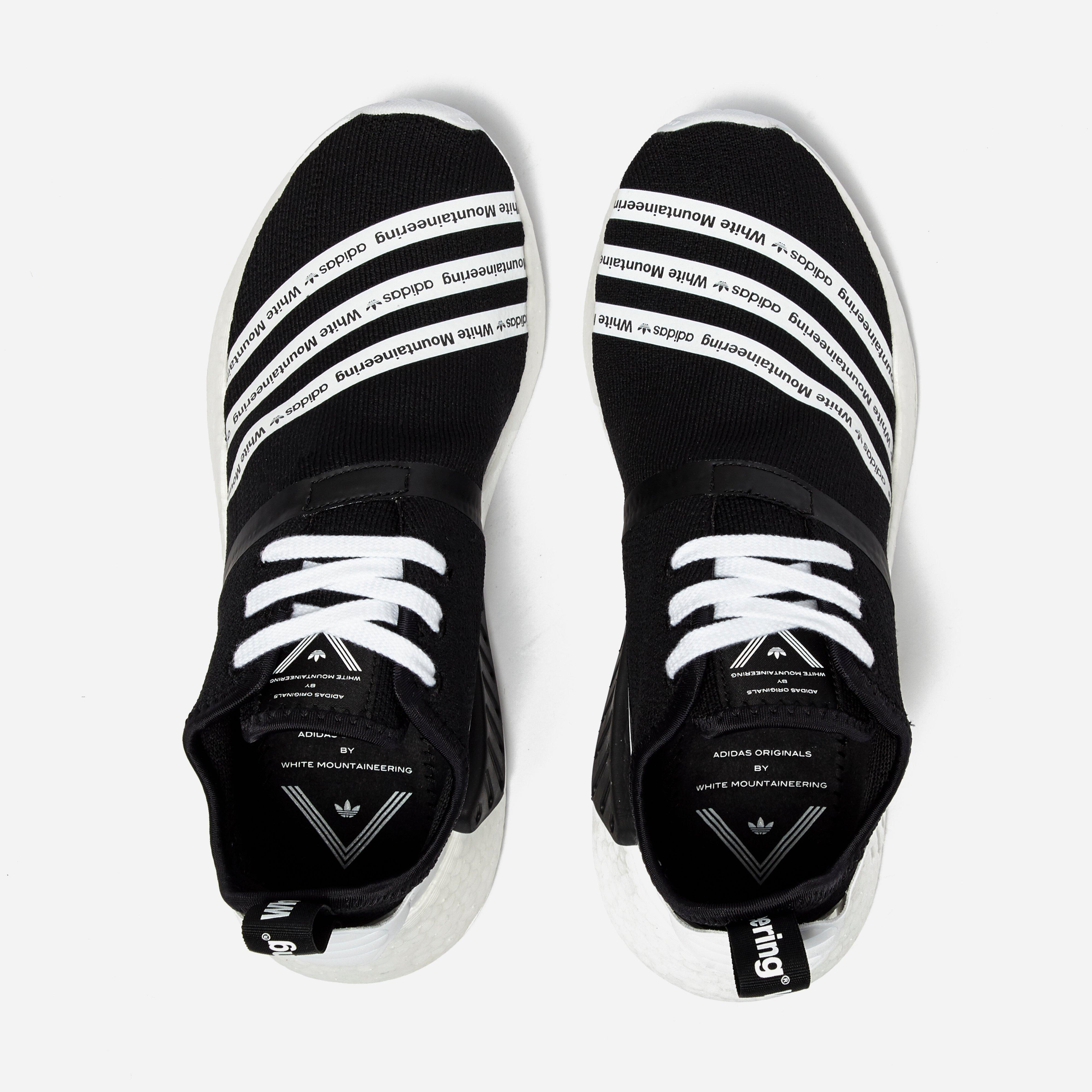 b09cf40d43c68 Lyst - adidas Originals X White Mountaineering Nmd R2 Pk in Black ...