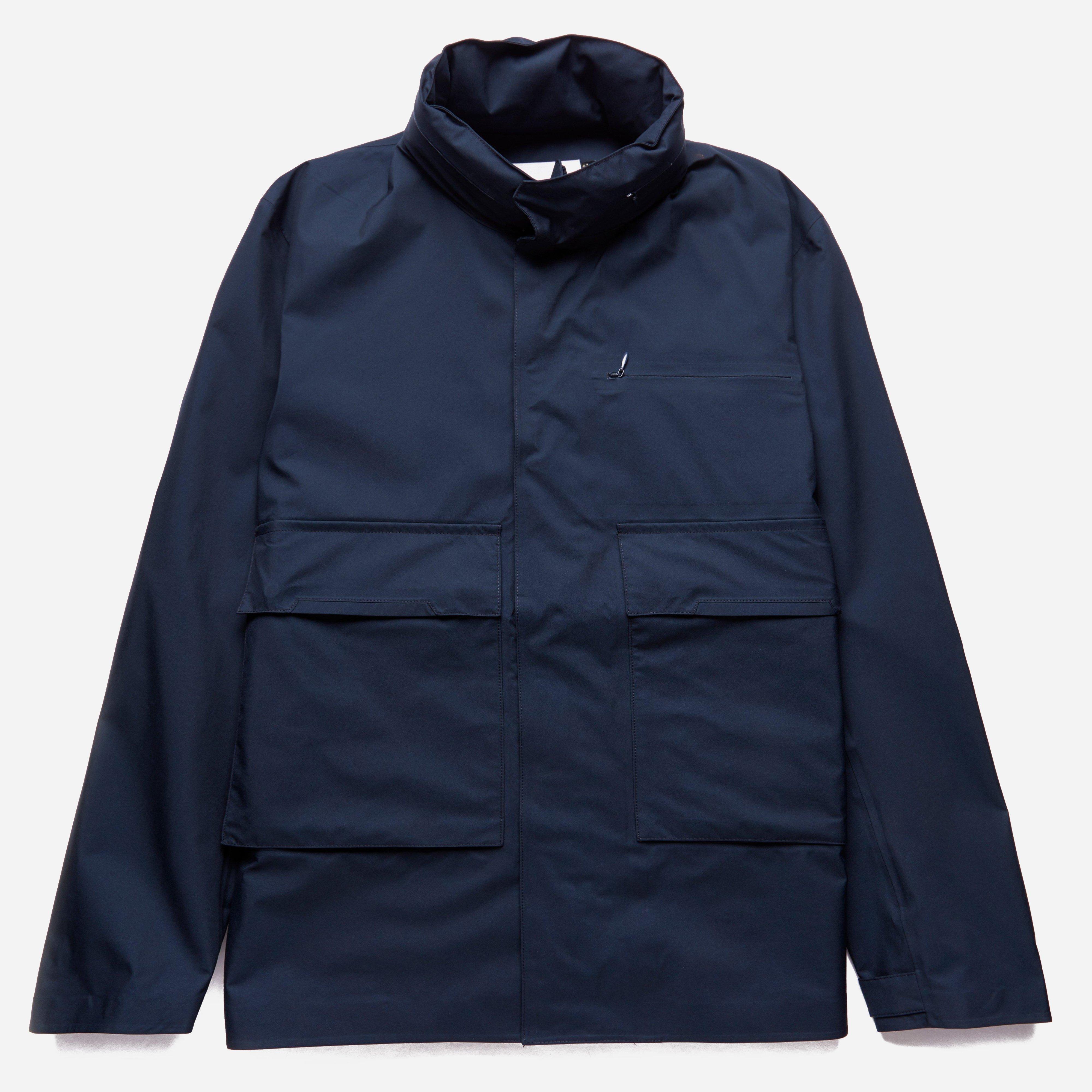 lyst nanamica gore tex jacket in blue for men. Black Bedroom Furniture Sets. Home Design Ideas