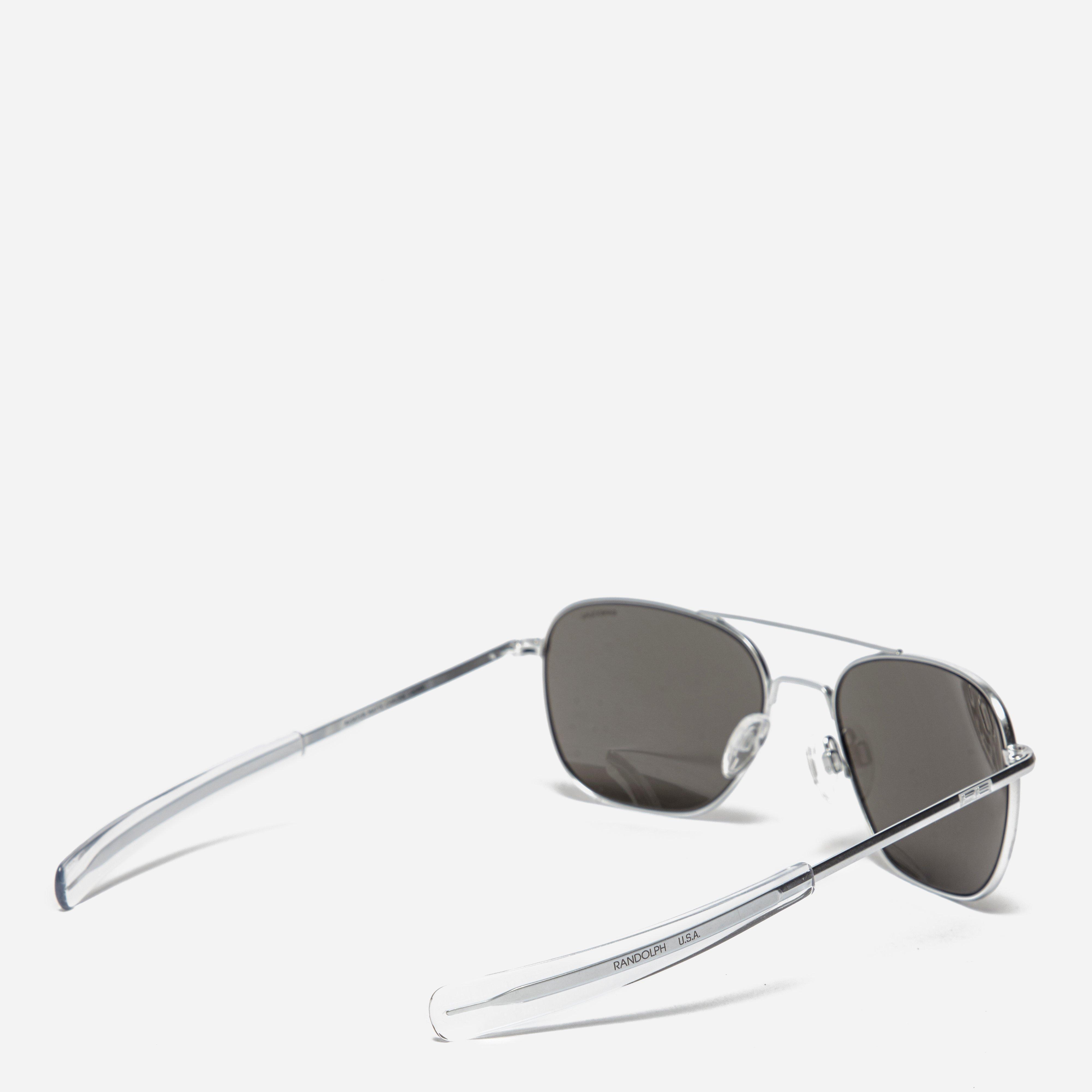 e426229f60d Randolph Aviator Polarized Sungles Chrome Shabooms. Randolph Pbp2468 Pc P3  Shadow 49 23mm Matte Black Skull 140mm Blue Sky Flash