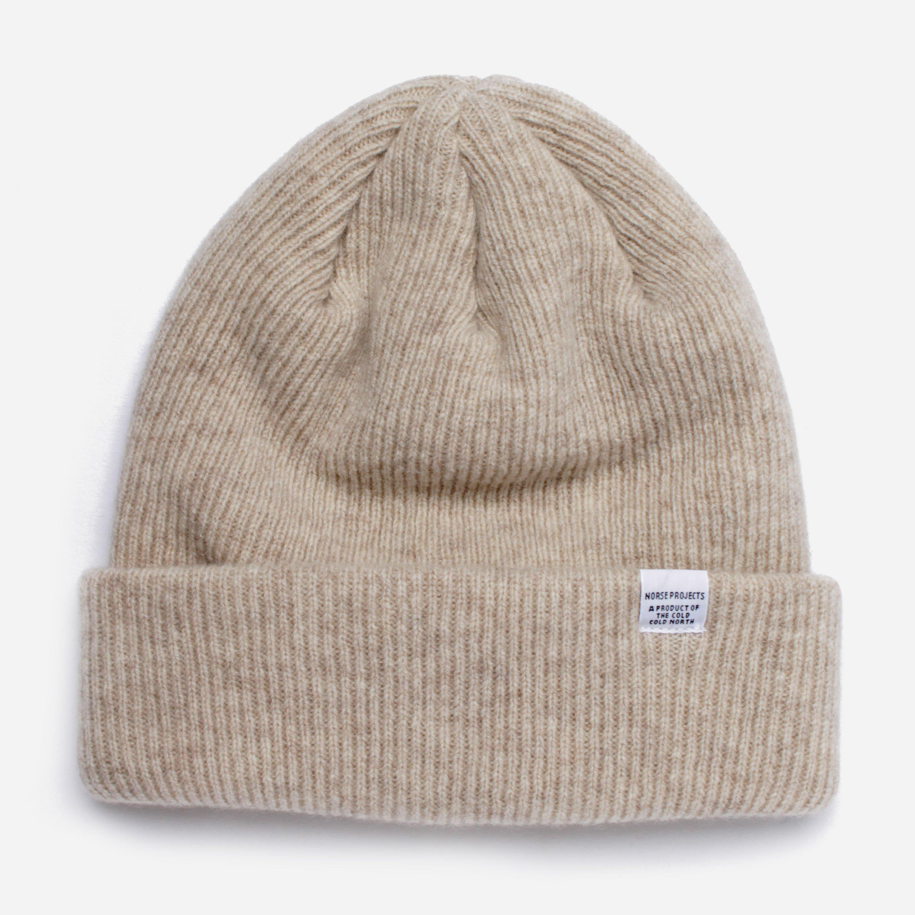 93c51979701 Norse Projects Knitted Beanie in Natural for Men - Lyst