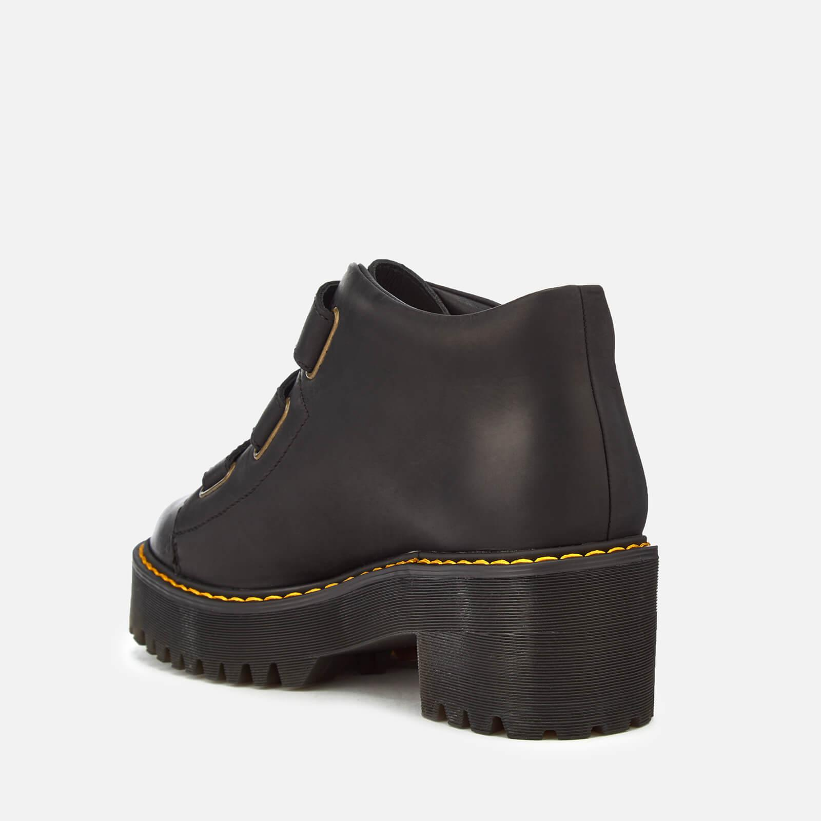 bbefbd561b452 Lyst - Dr. Martens Coppola Leather Buckle Heeled Boots in Black