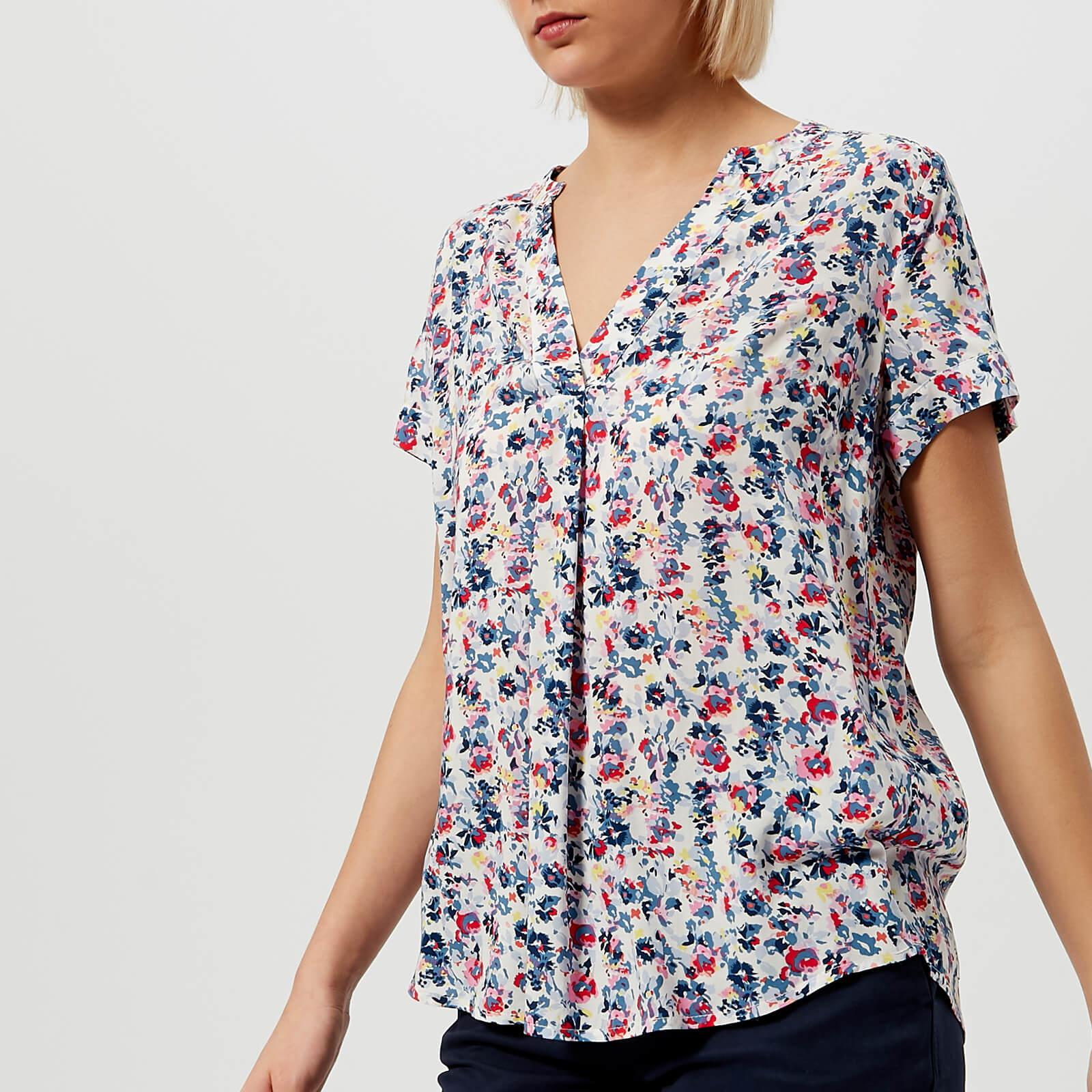 d4e9d4325503e6 Joules Iona Short Sleeve Blouse in Blue - Lyst