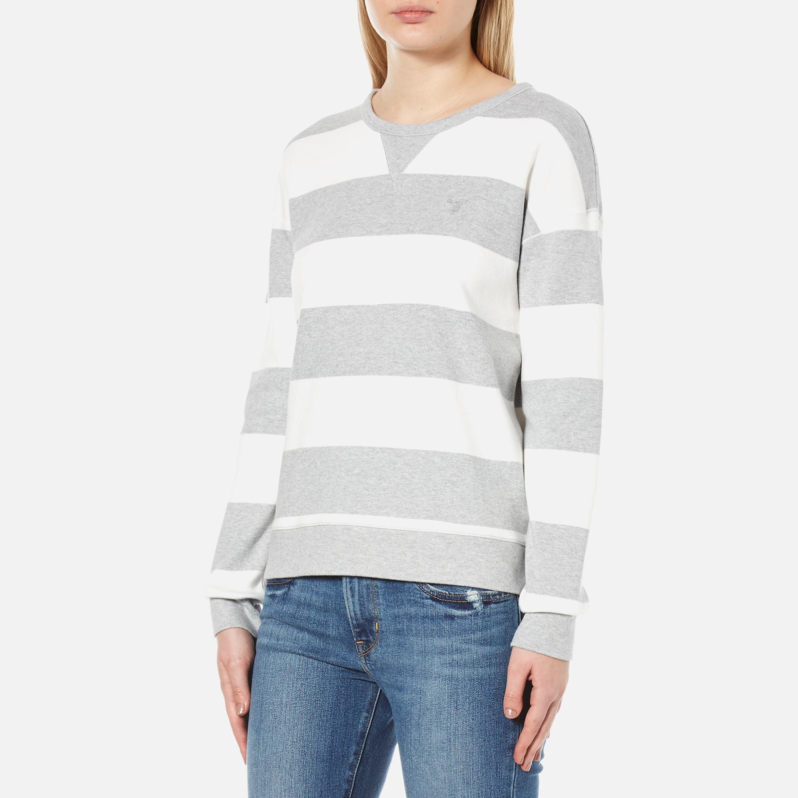 4c9b81641da GANT O2 Barstripe C-neck Sweatshirt in Gray - Lyst