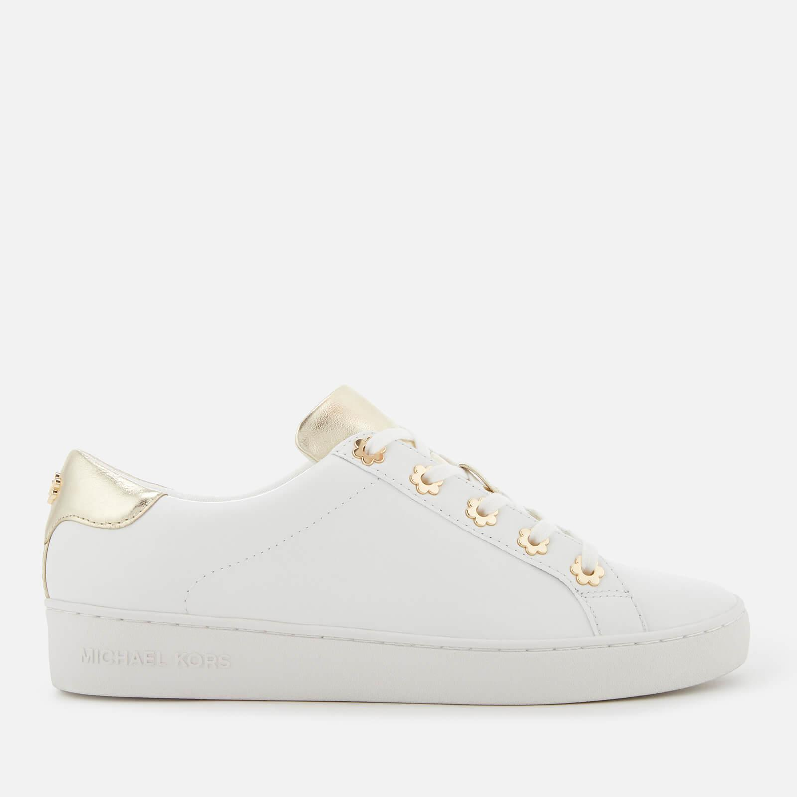 df19175e6ba Lyst - Michael Michael Kors Irving Leather Low Top Trainers in White