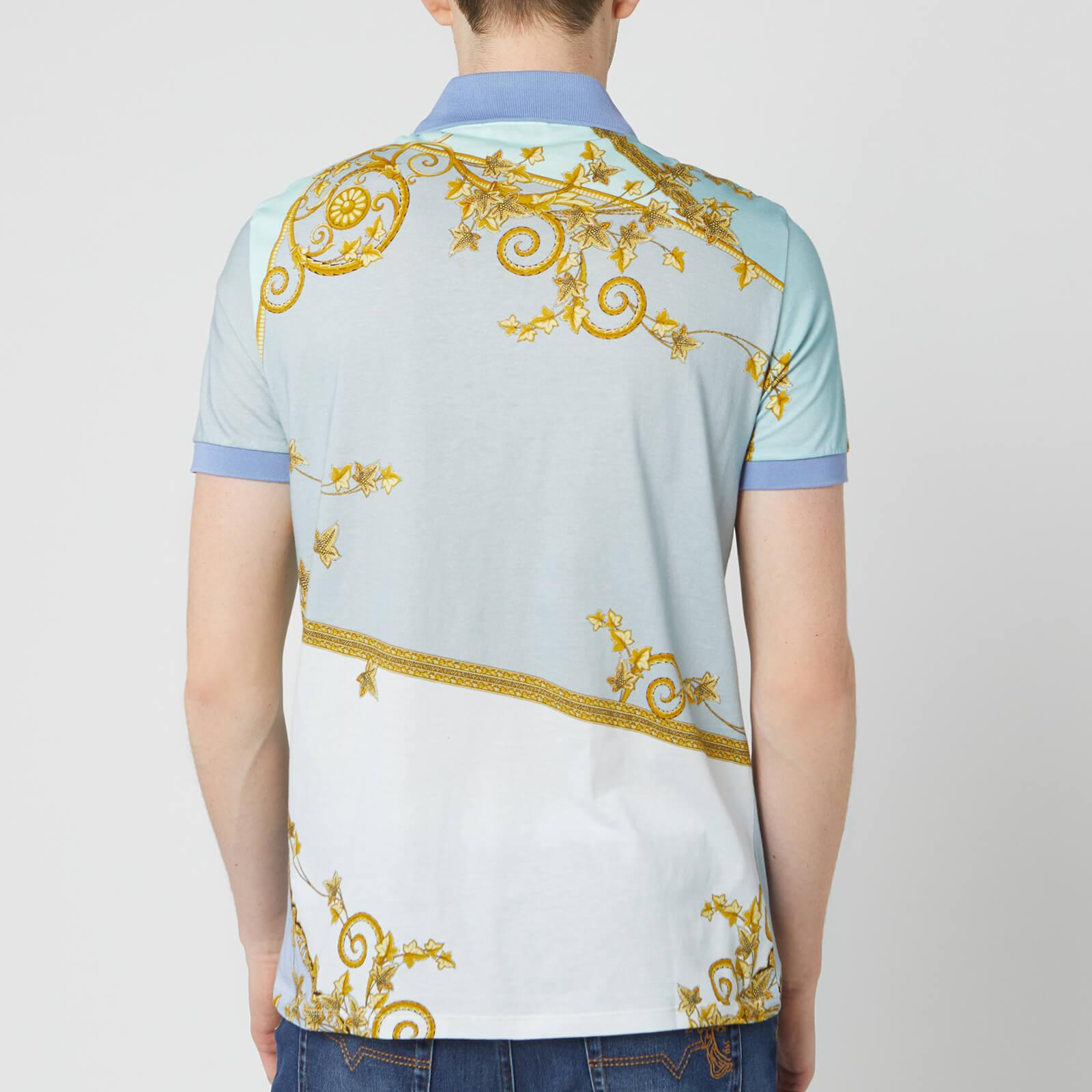 1793e4ffaa1 Lyst - Versace All Over Print Polo Shirt in Blue for Men