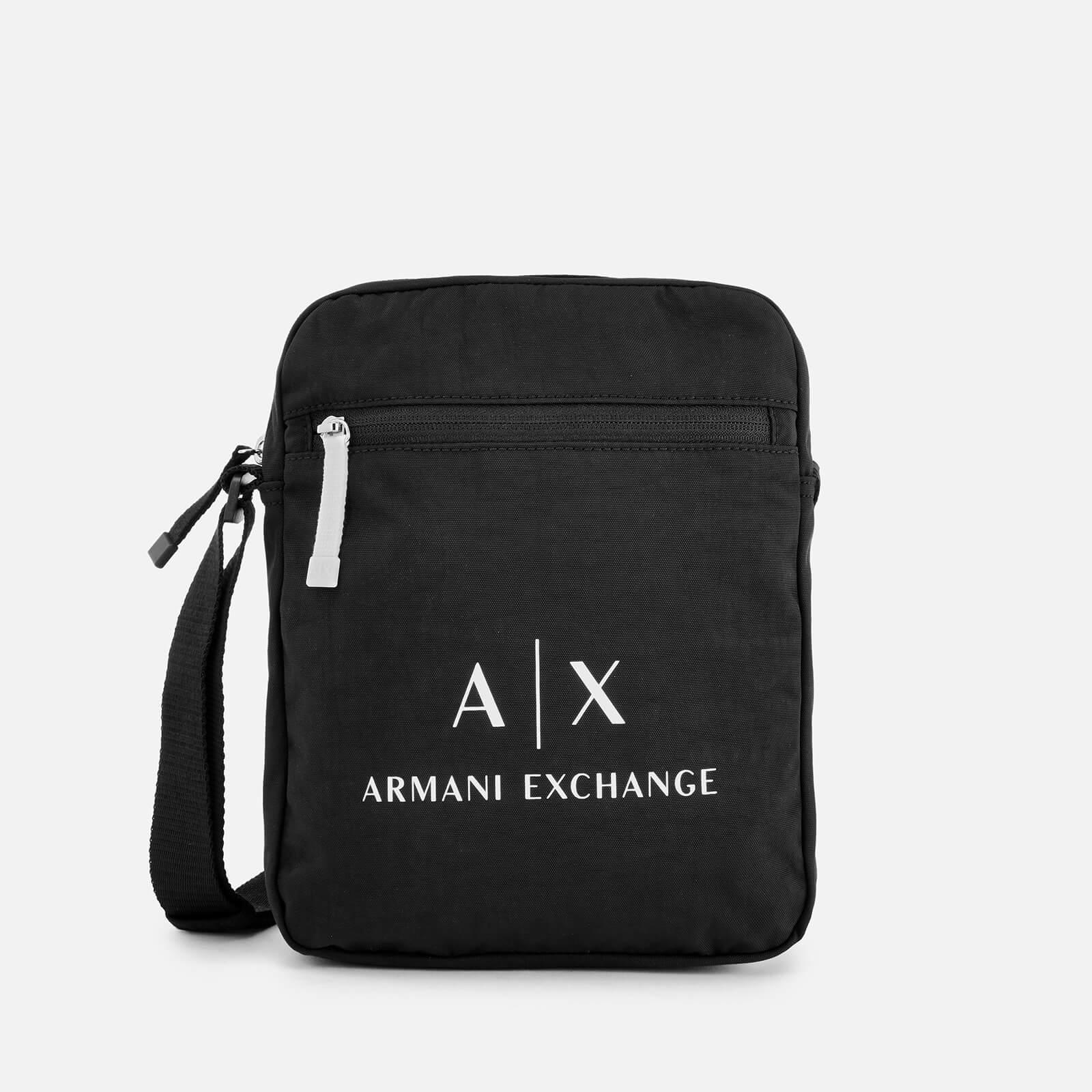 9f29432df16c Armani Exchange - Black Contrast Logo Cross Body Bag for Men - Lyst. View  fullscreen