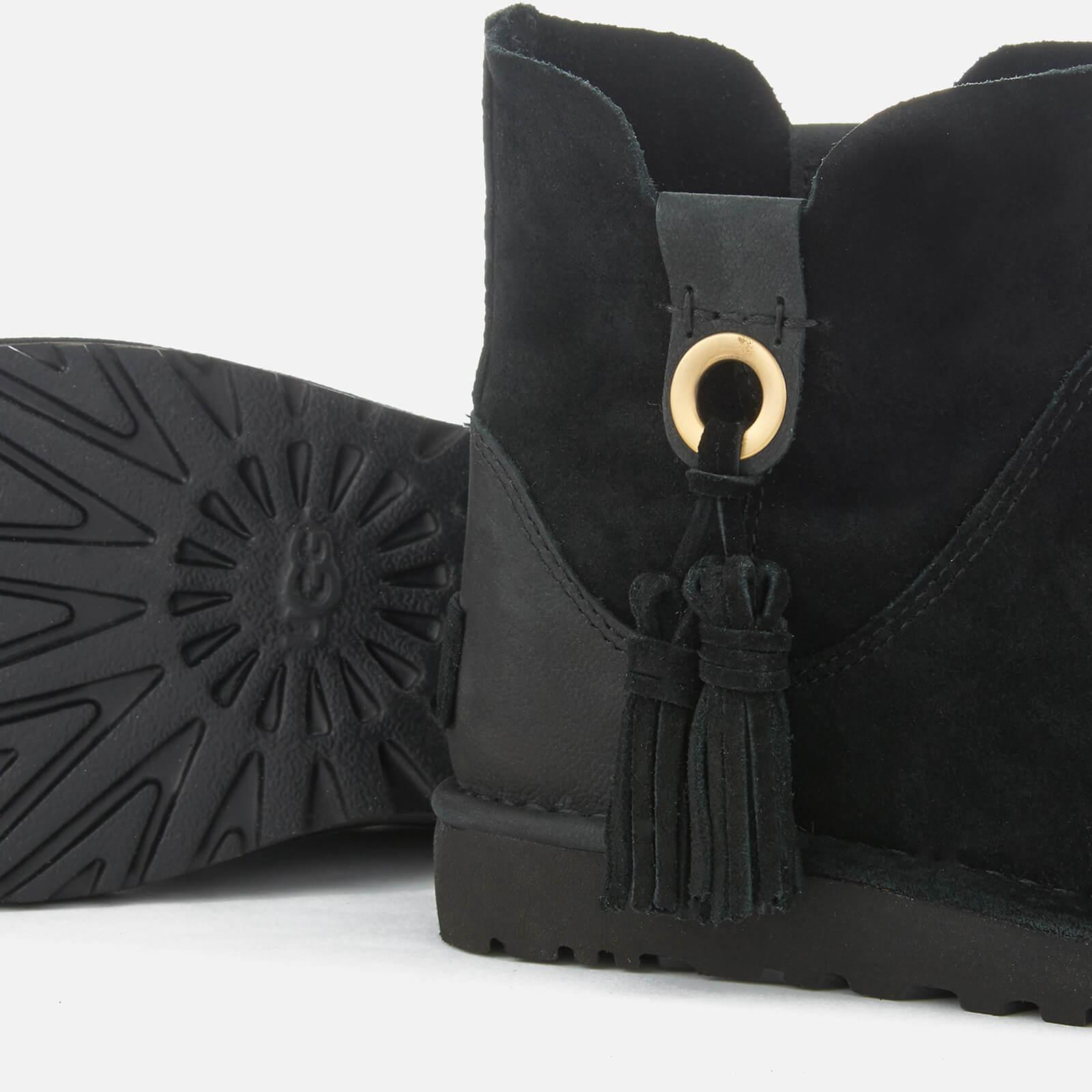 Women's Black Gib Suede Unlined Ankle Boots