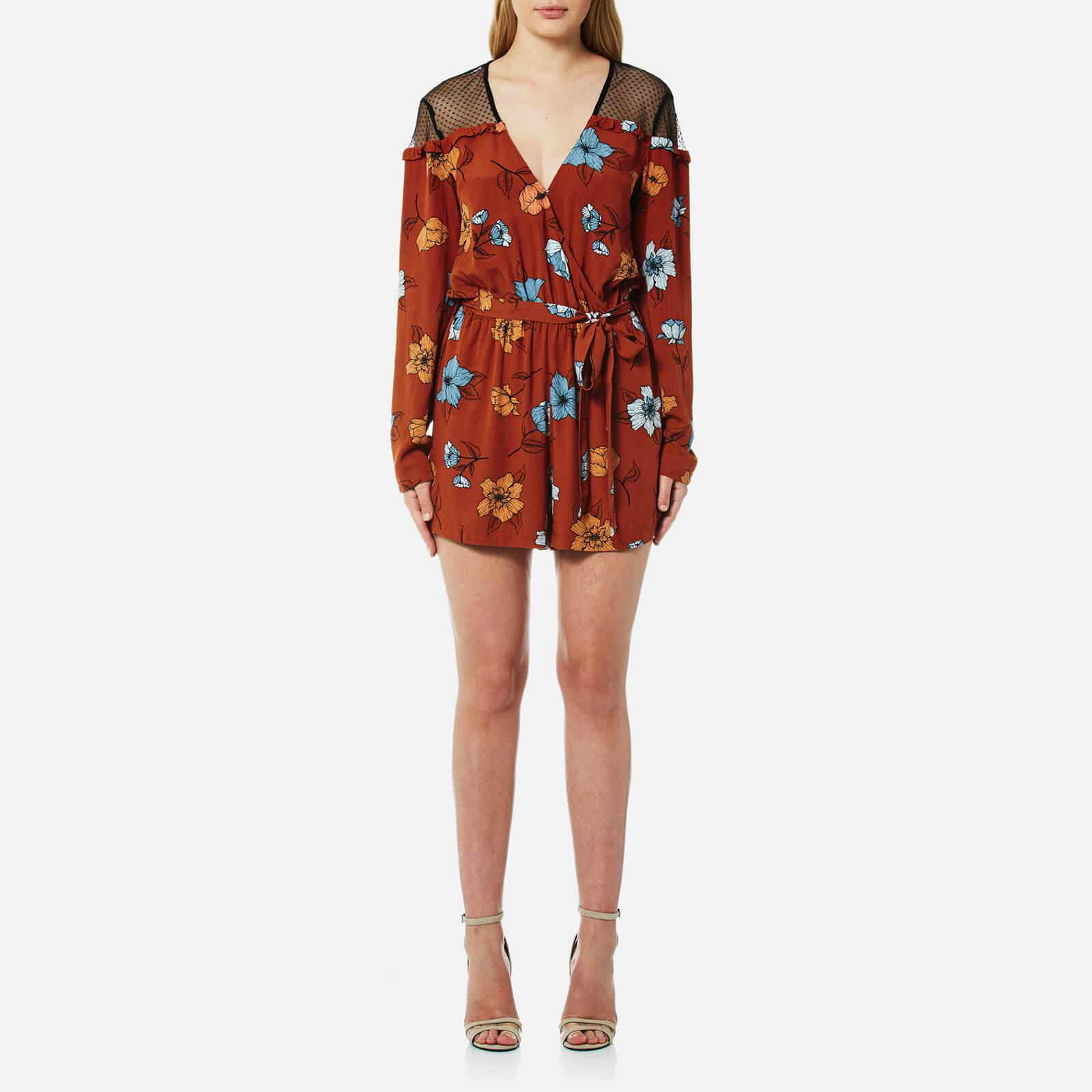 a3374a89a5 MINKPINK Ornate Playsuit in Red - Lyst