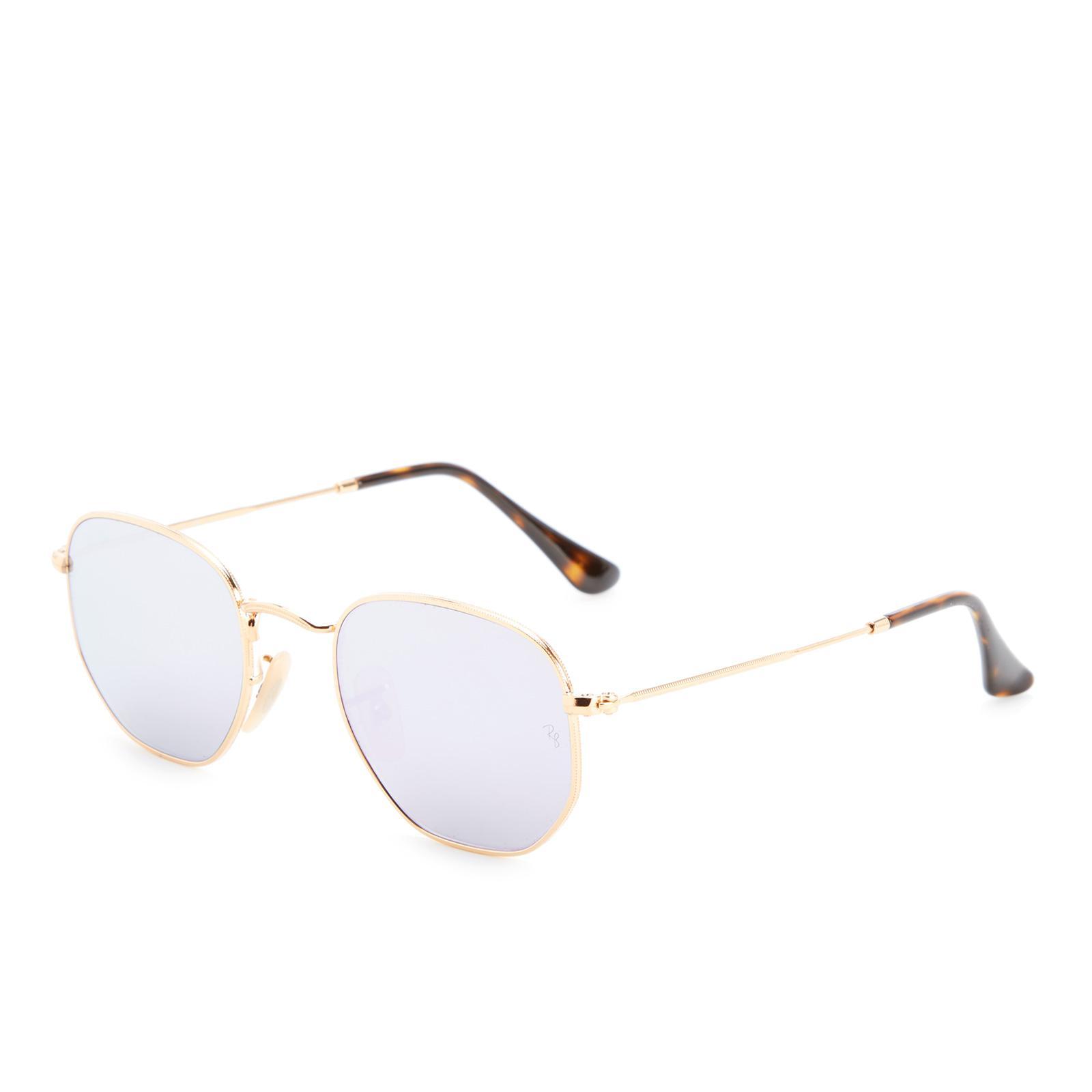 81bf3a3123 Lyst - Ray-Ban Hexagonal Metal Frame Sunglasses