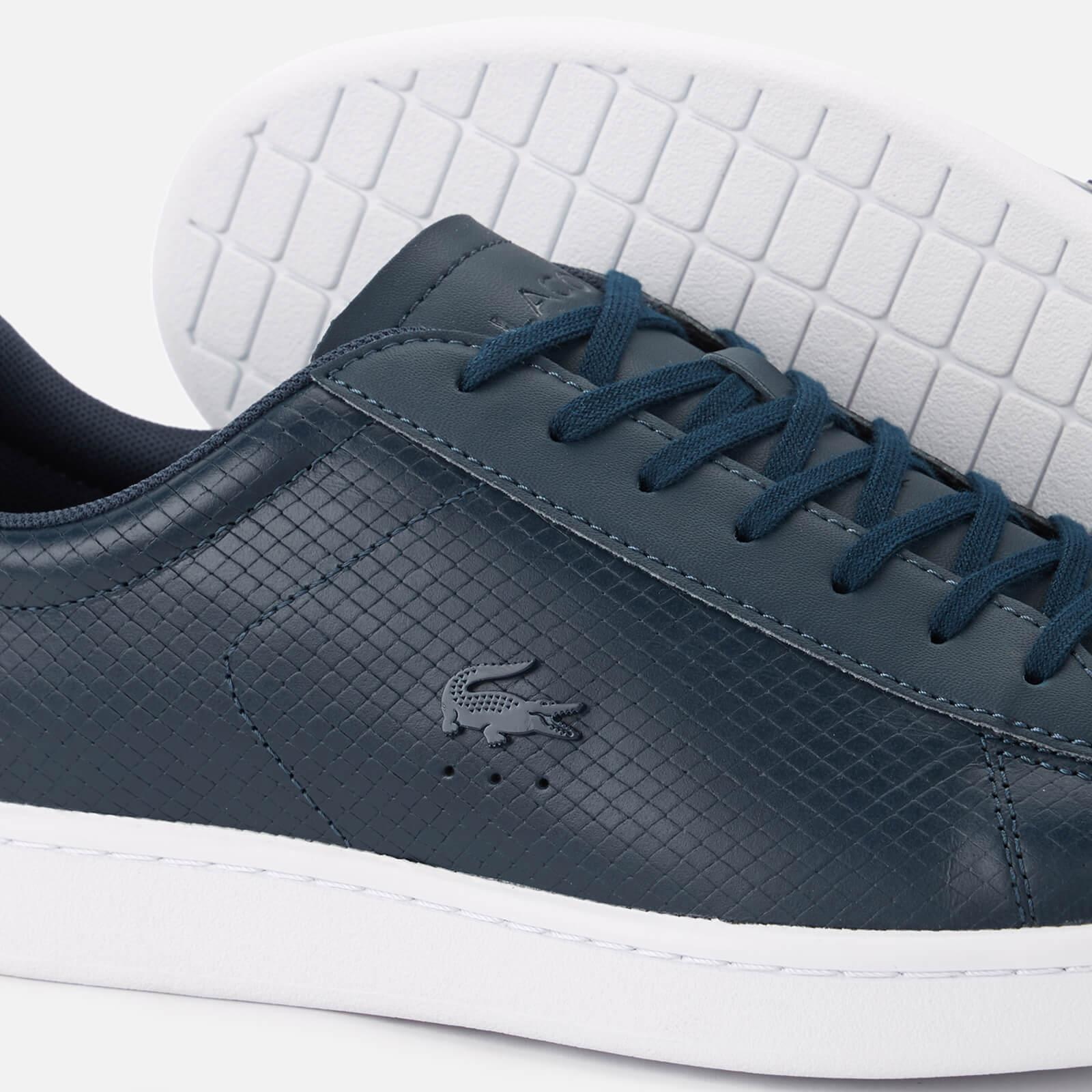bb0461fab95d83 Lacoste - Blue Carnaby Evo 318 7 Croc Leather Trainers for Men - Lyst. View  fullscreen
