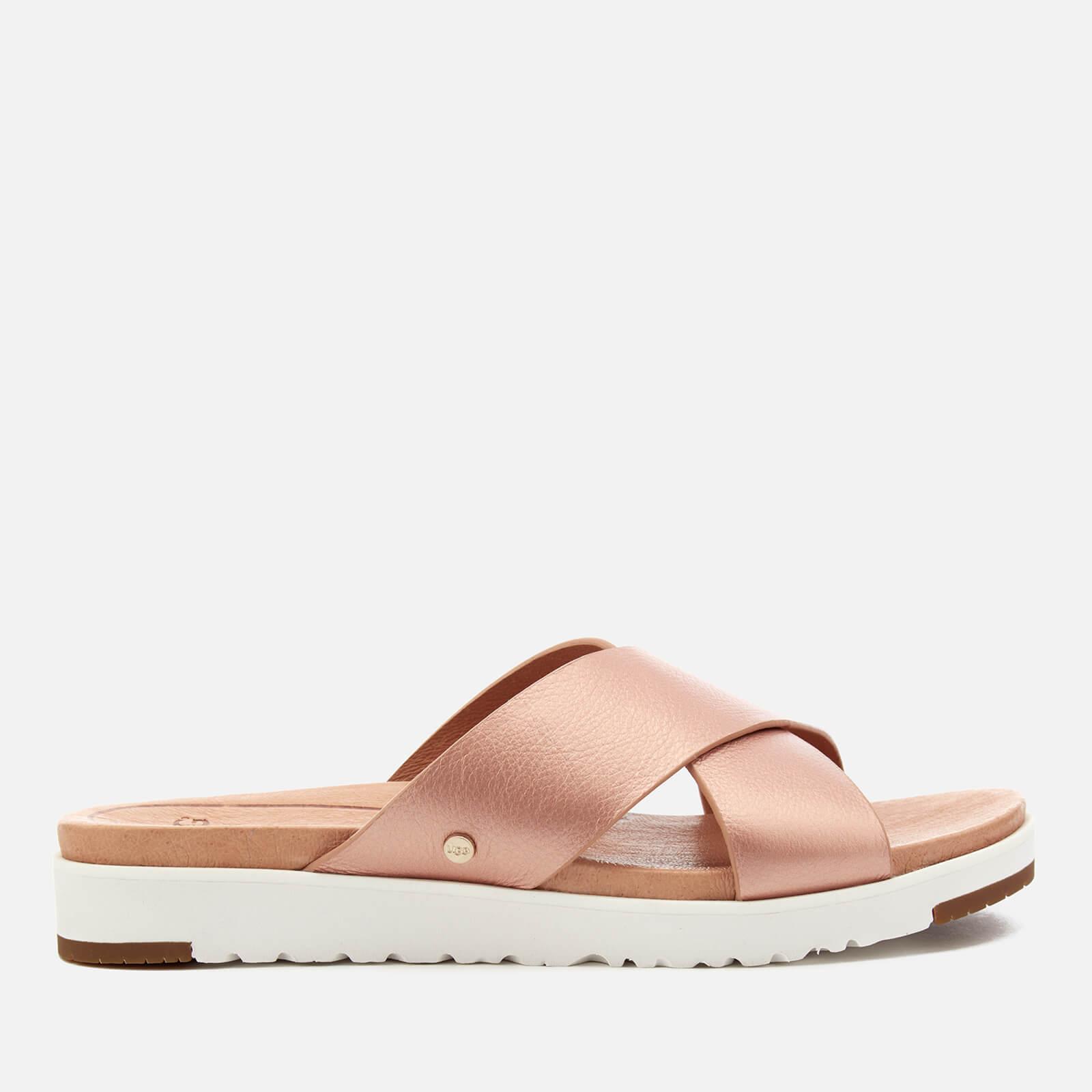 bd59f8224a87 UGG Kari Metallic Cross Strap Slide Sandals in Pink - Lyst