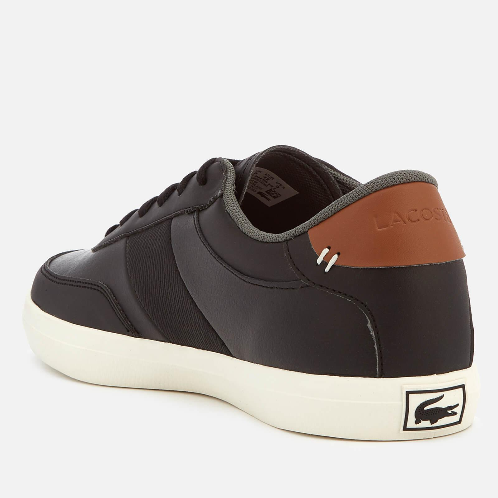 3f78c4fe7 Lacoste - Black Court-master 318 2 Leather Vulcanised Trainers for Men -  Lyst. View fullscreen