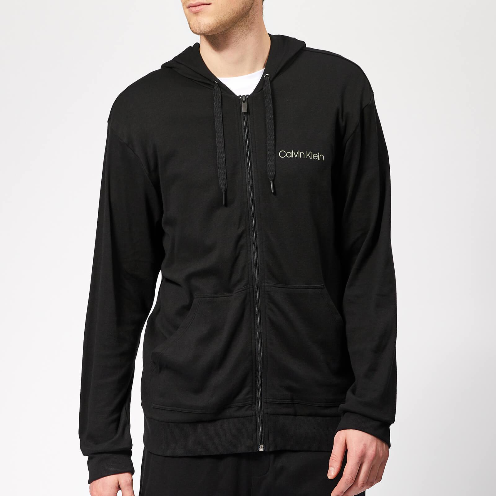 3119d807d6fc Calvin Klein - Black Full Zip Lounge Hoodie for Men - Lyst. View fullscreen