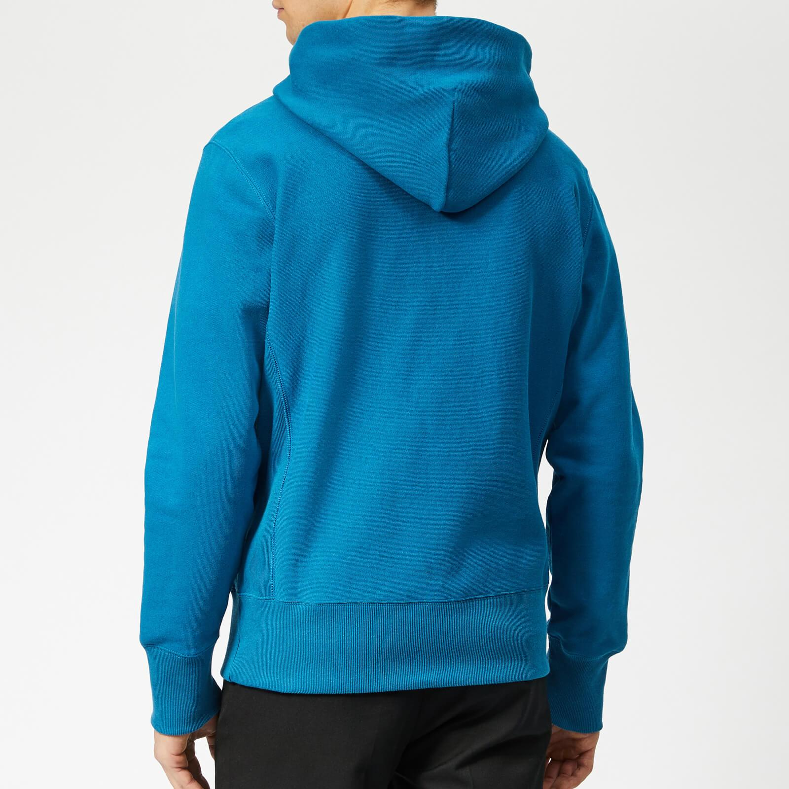 0f22579f9c2 Champion - Blue Half Zip Over Head Hoodie for Men - Lyst. View fullscreen