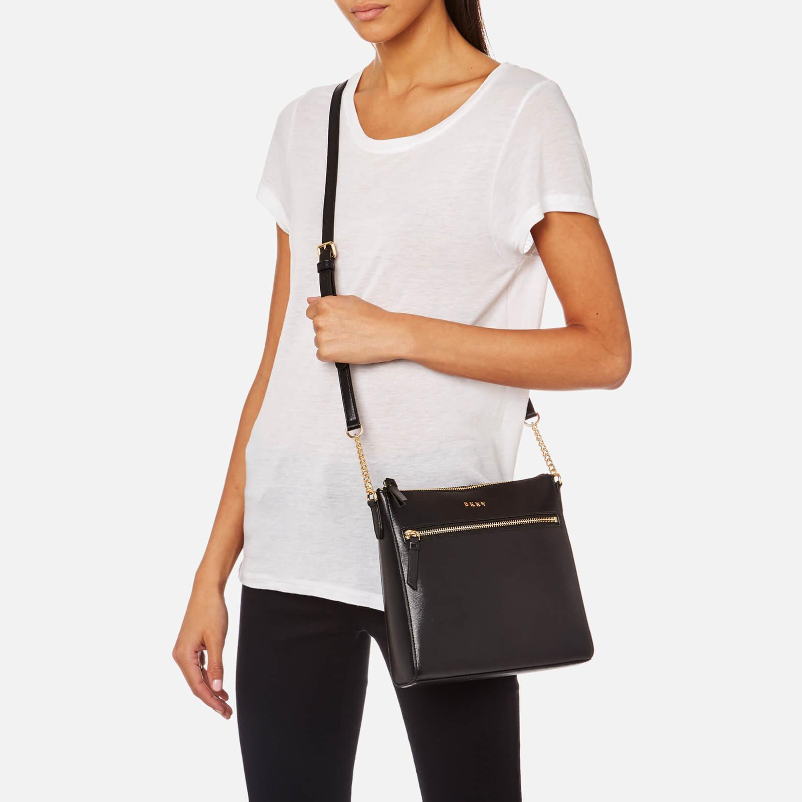 a06864825c6 DKNY Women s Bryant Top Zip Cross Body Bag in Black - Lyst