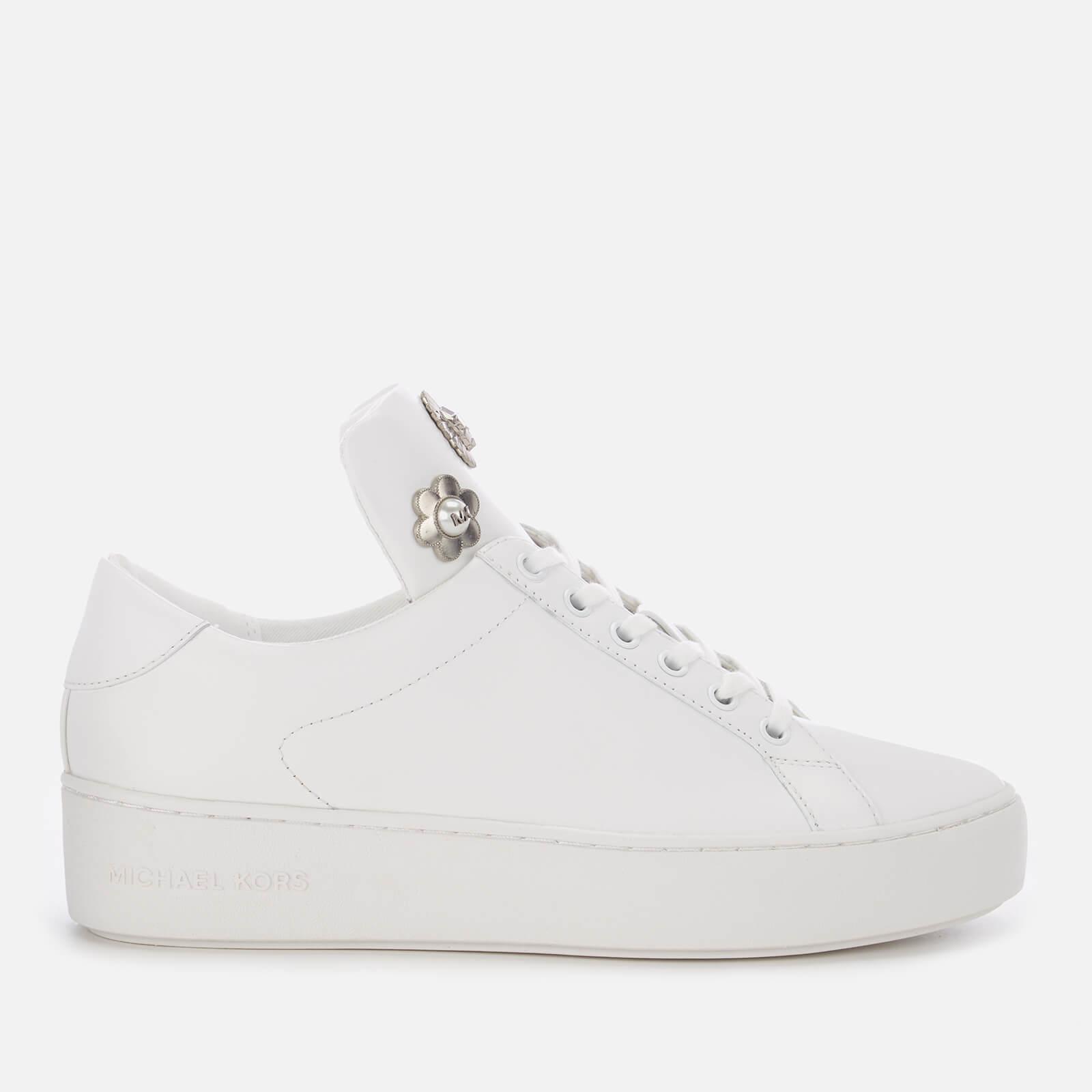 d27ec5286d39 Lyst - Michael Michael Kors Mindy Lace Up Trainers in White
