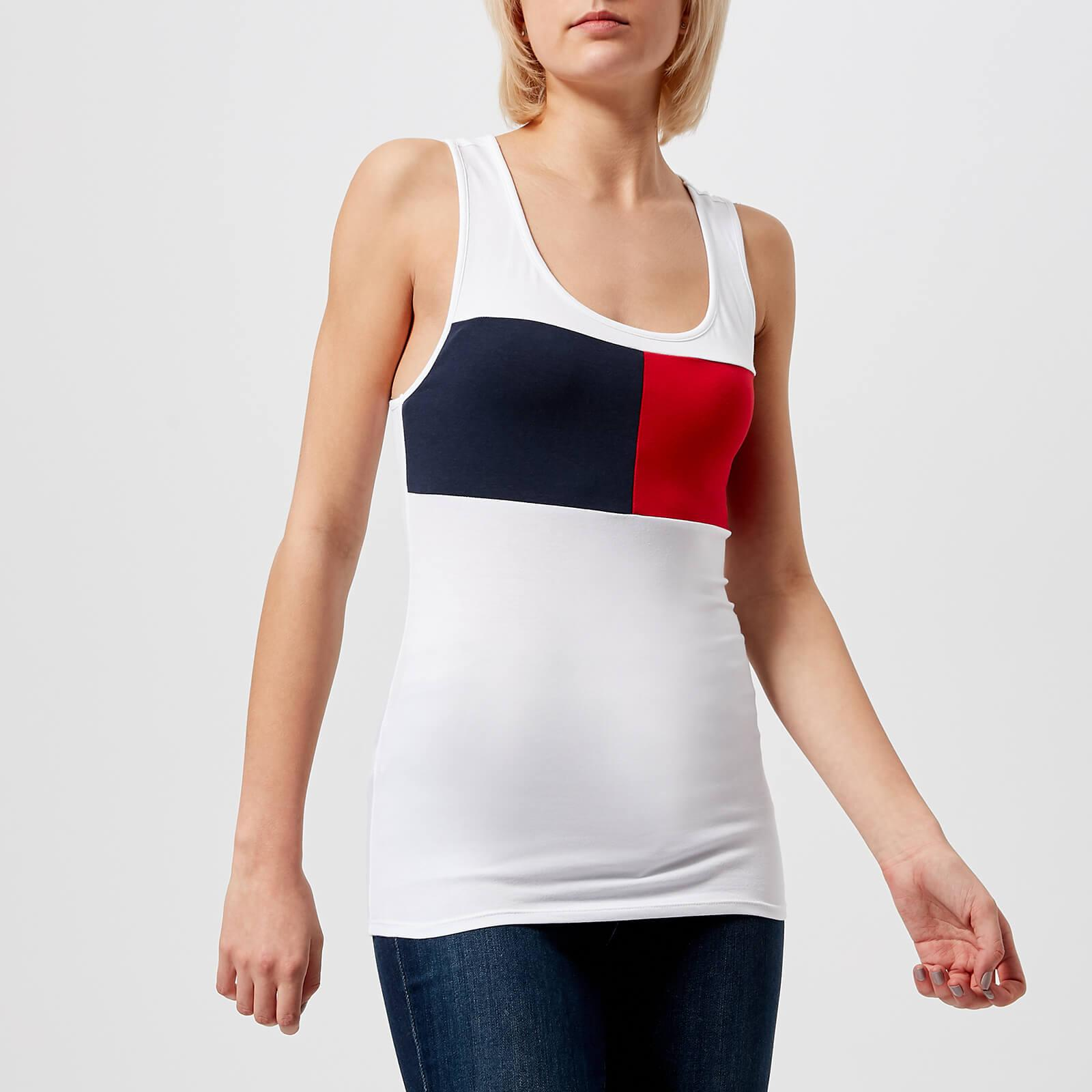 c9a80caff65e2 Tommy Hilfiger Logo Tank Top in White - Lyst