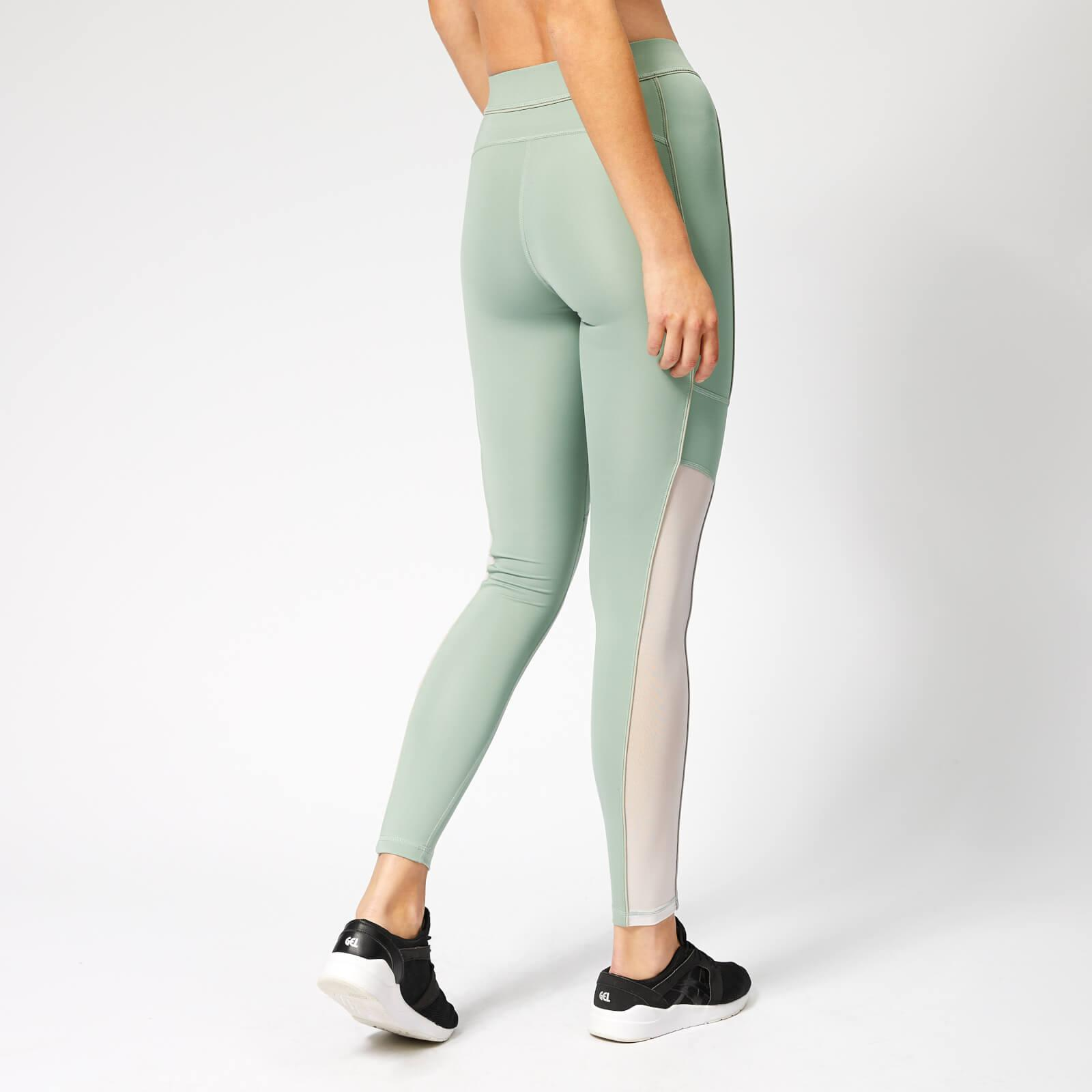 19bf50538301af Lyst - Ivy Park Sheer Flocked Active Logo Leggings in Green