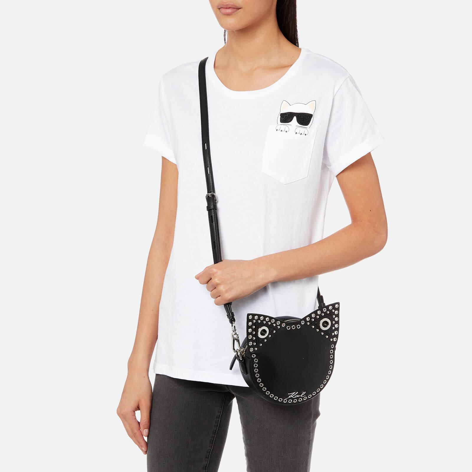 Lyst Karl Lagerfeld Krocky Choupette Cross Body Bag In Black