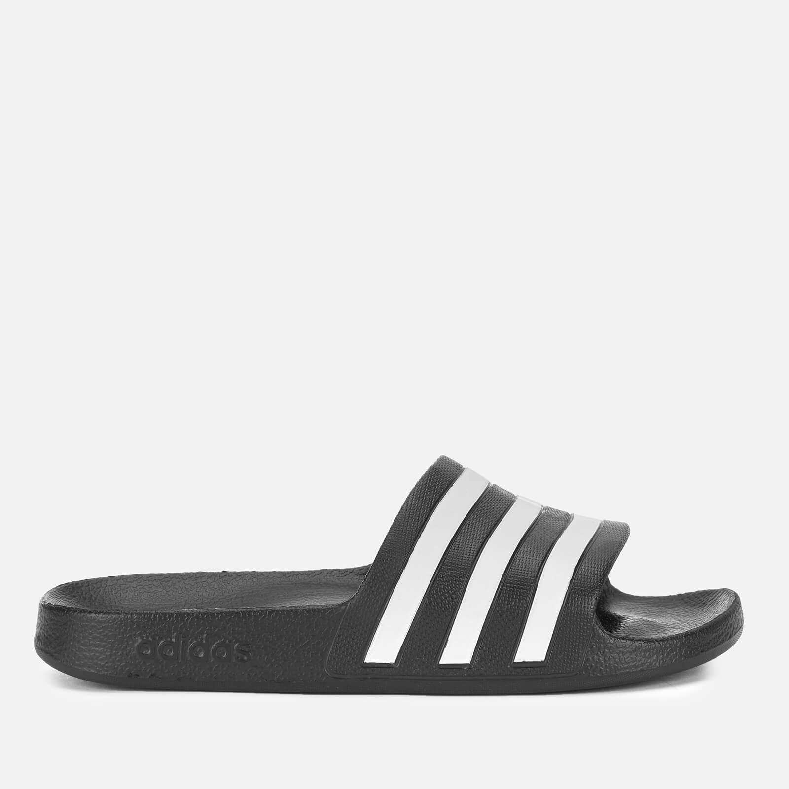 356d49c0230548 Adidas - Black Adilette Aqua Slide Sandals for Men - Lyst. View fullscreen