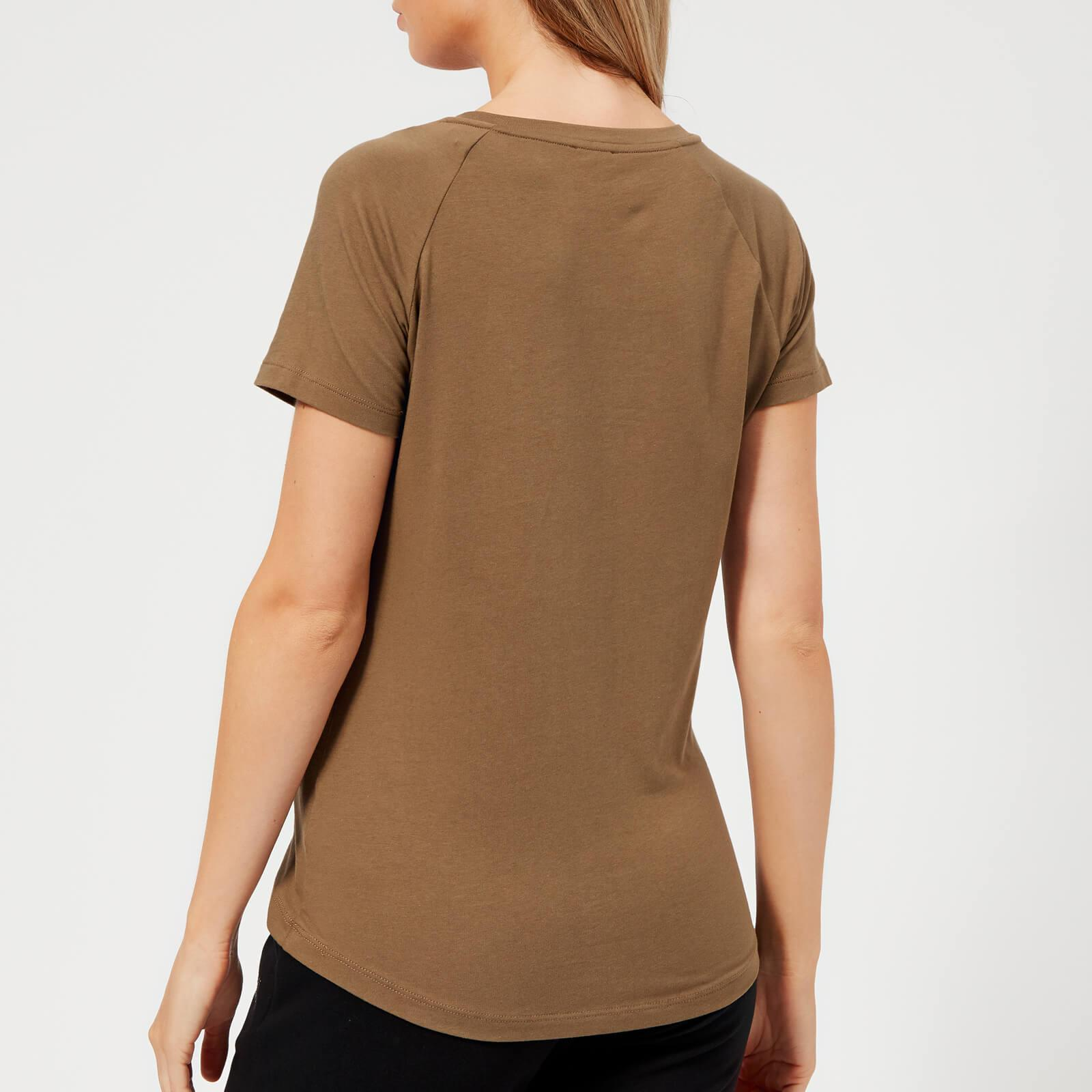 f5d80ba2c EA7 - Brown Train Logo Series Shiny Print T-shirt - Lyst. View fullscreen