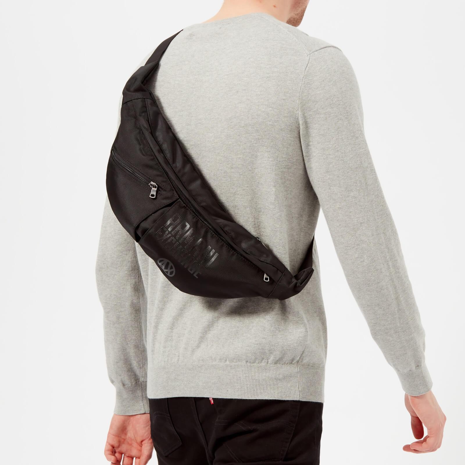 5b9a1f6bc6e1 Lyst - Armani Exchange Nylon Sling Bag in Black for Men