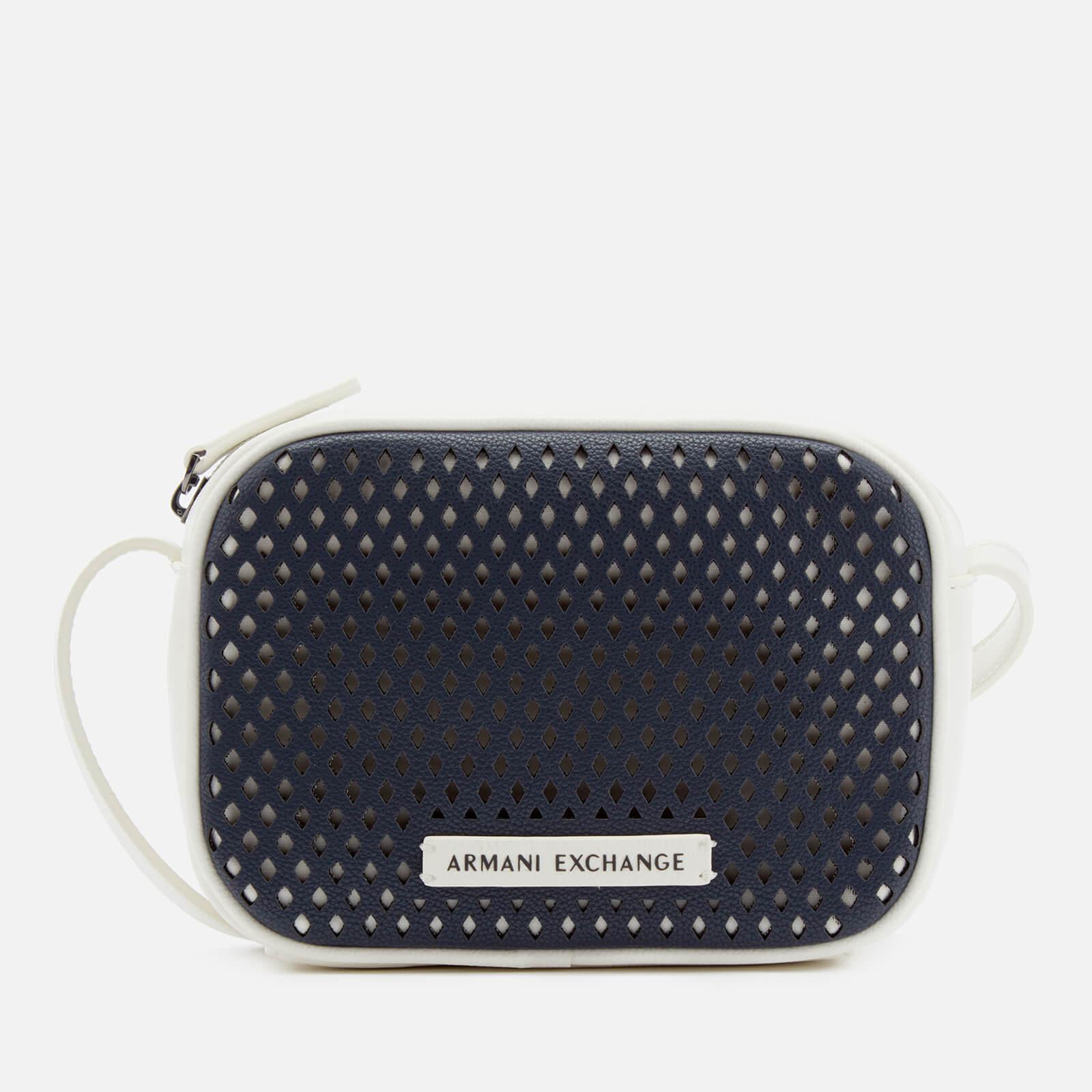 6ee2bd796b24 Armani Exchange - Blue Perforated Cross Body Bag - Lyst. View fullscreen