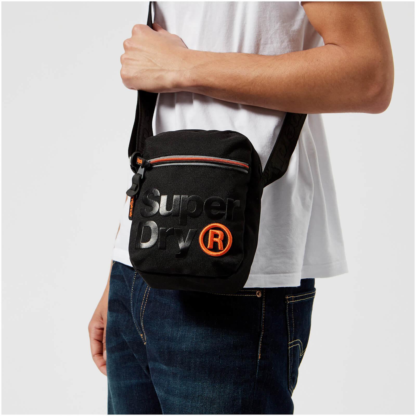 553fa2ef5a Superdry Lineman Super Sidebag in Black for Men - Lyst