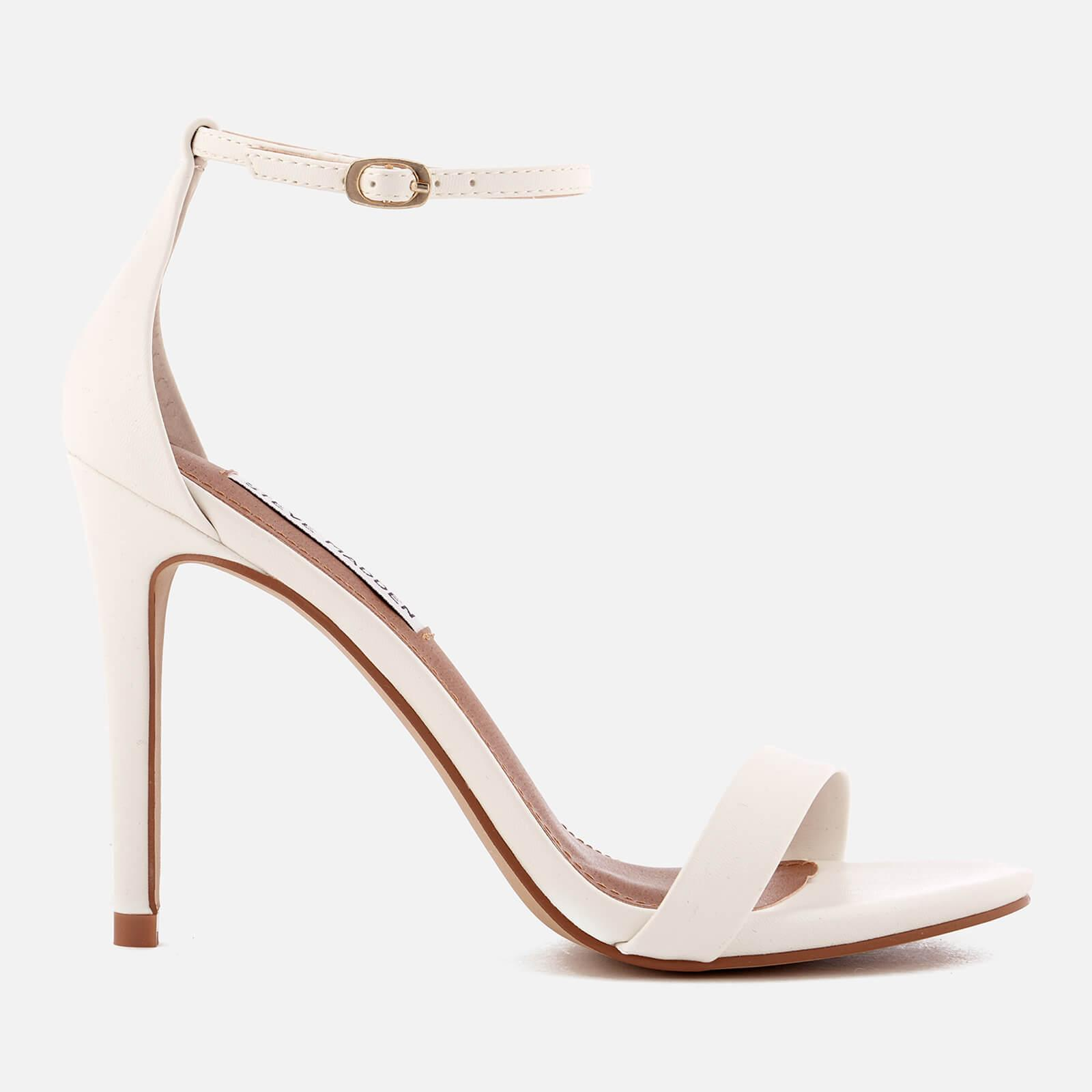 bcf25fa0a61 Lyst - Steve Madden Stecy Barely There Heeled Sandals in White