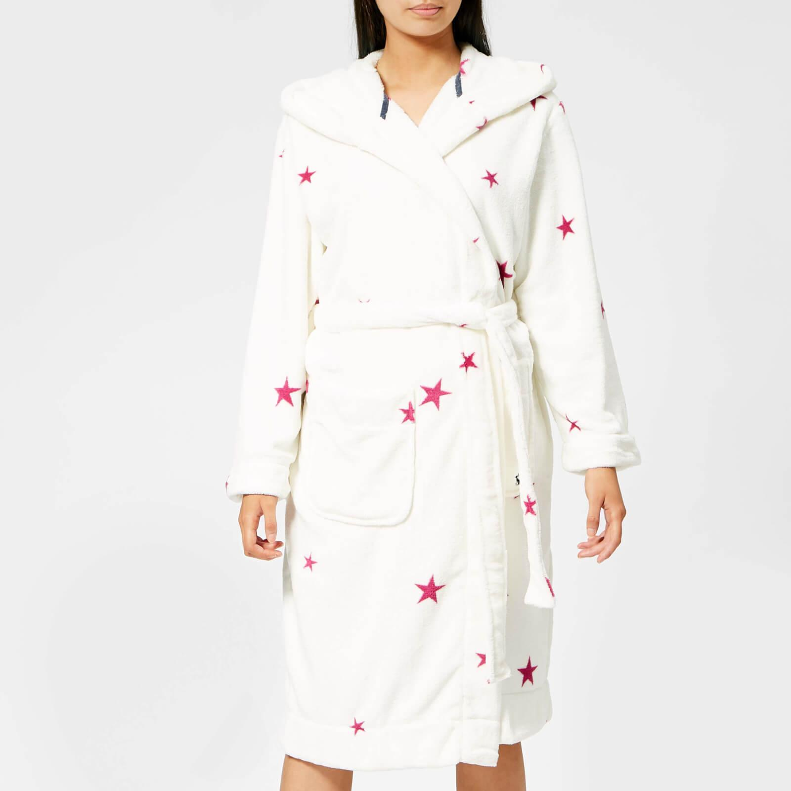 a2eb52fb2f Joules Rita Hooded Fleece Dressing Gown - Lyst