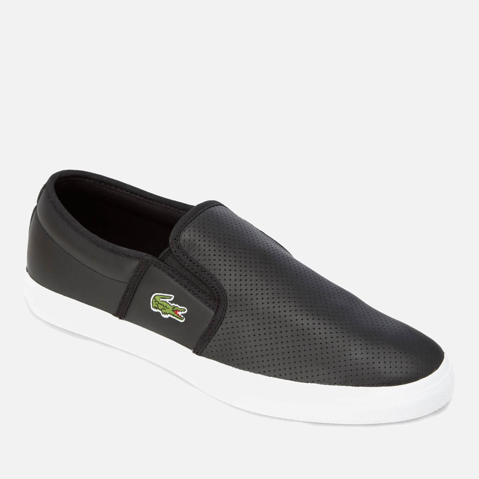 be89247c35e34 Lacoste - Black Gazon Bl 1 Leather Slip-on Trainers for Men - Lyst. View  fullscreen