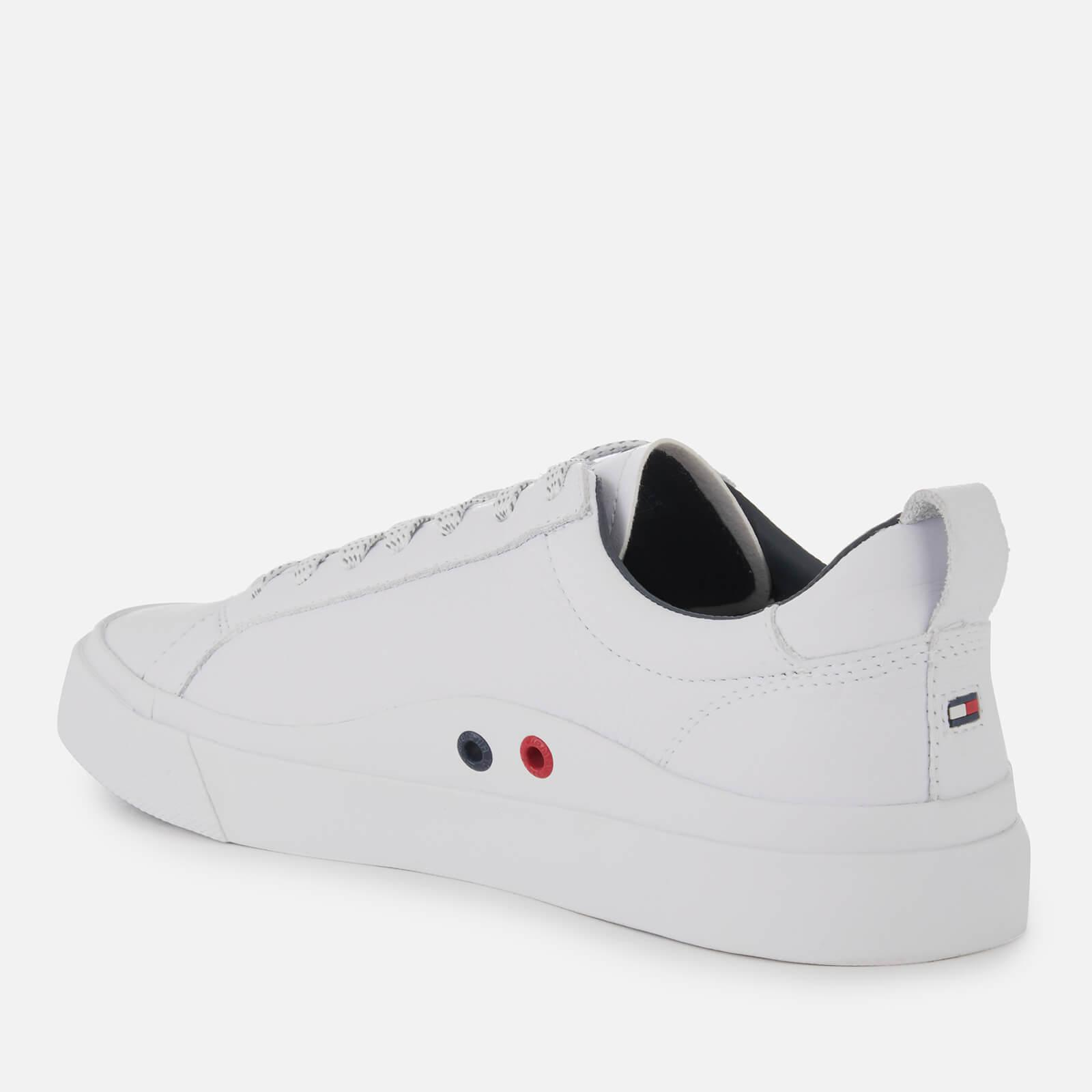 96c516b71a53 Tommy Hilfiger - Multicolor Flag Detail Leather Trainers for Men - Lyst.  View fullscreen