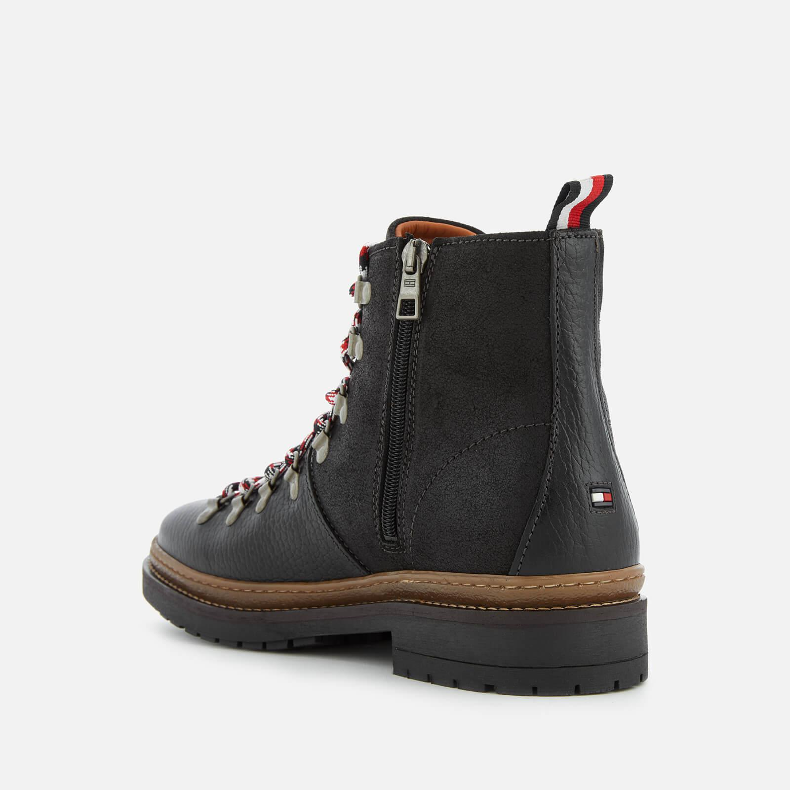 52742bda191c Tommy Hilfiger - Black Elevated Outdoor Leather Hiking Boots for Men -  Lyst. View fullscreen