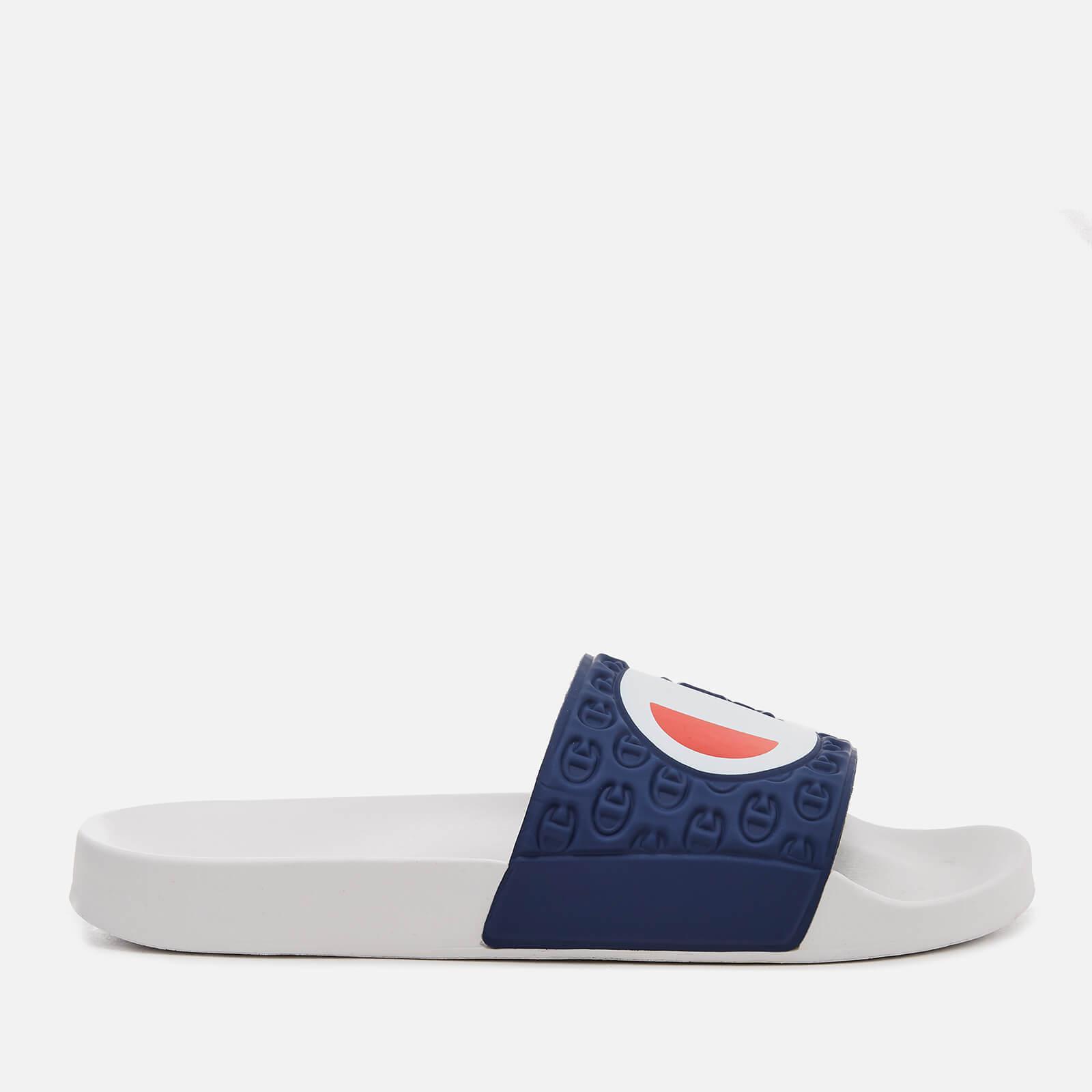 1e41ec886cc11 Lyst - Champion Logo Pool Slide Sandals in White for Men