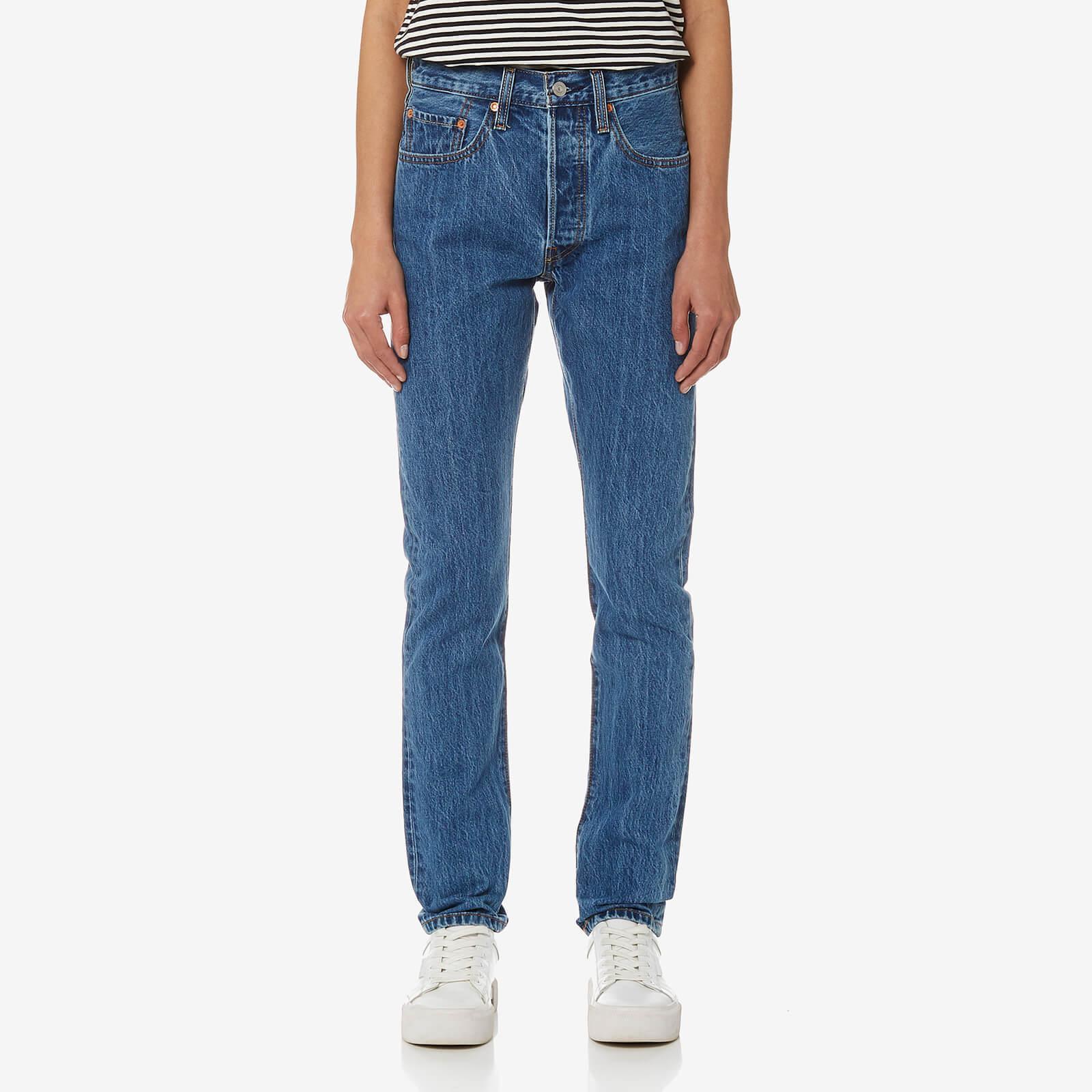 lyst levi 39 s 501 skinny jeans in blue. Black Bedroom Furniture Sets. Home Design Ideas