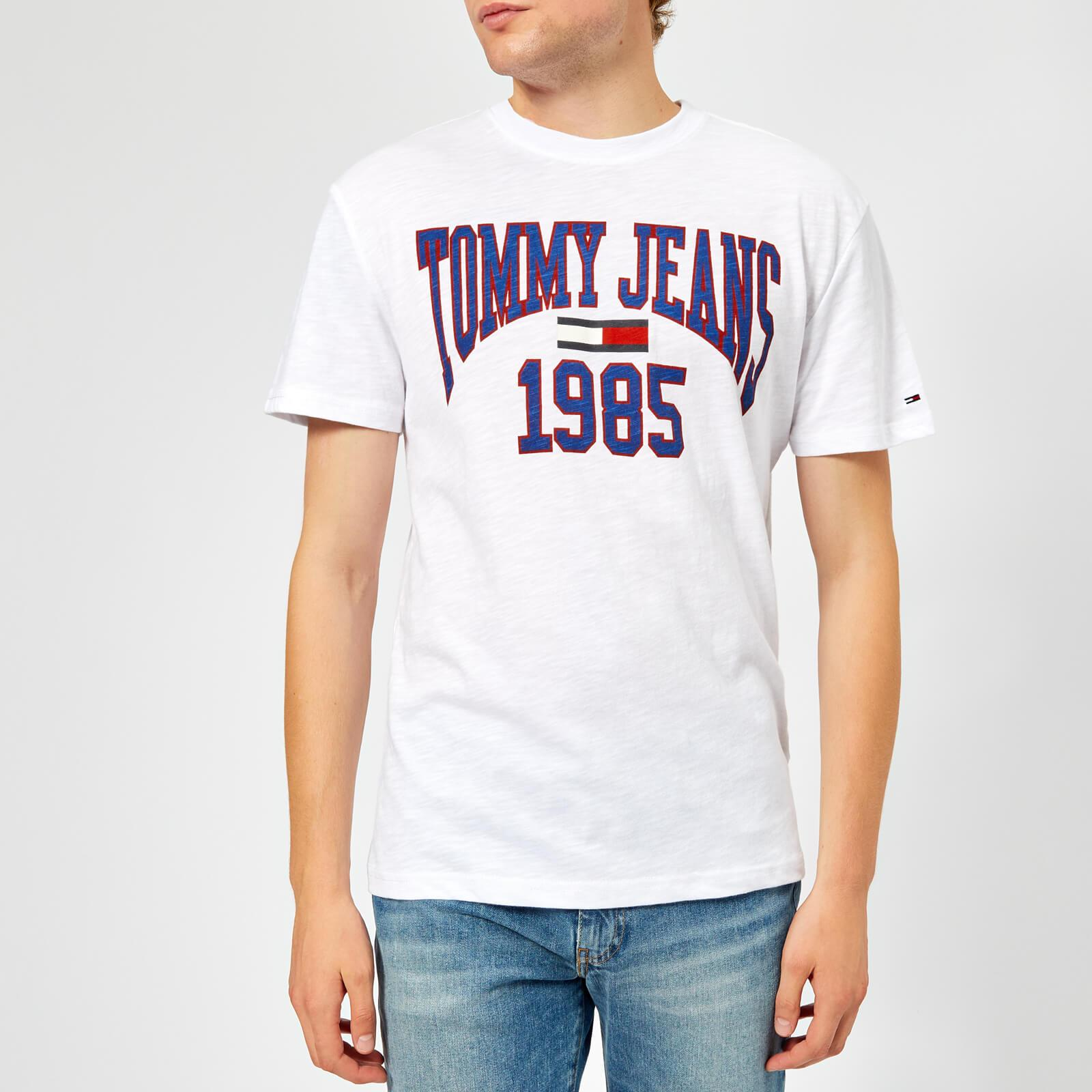 bf348509a Lyst - Tommy Hilfiger Tjm Collegiate Logo T-shirt in White for Men