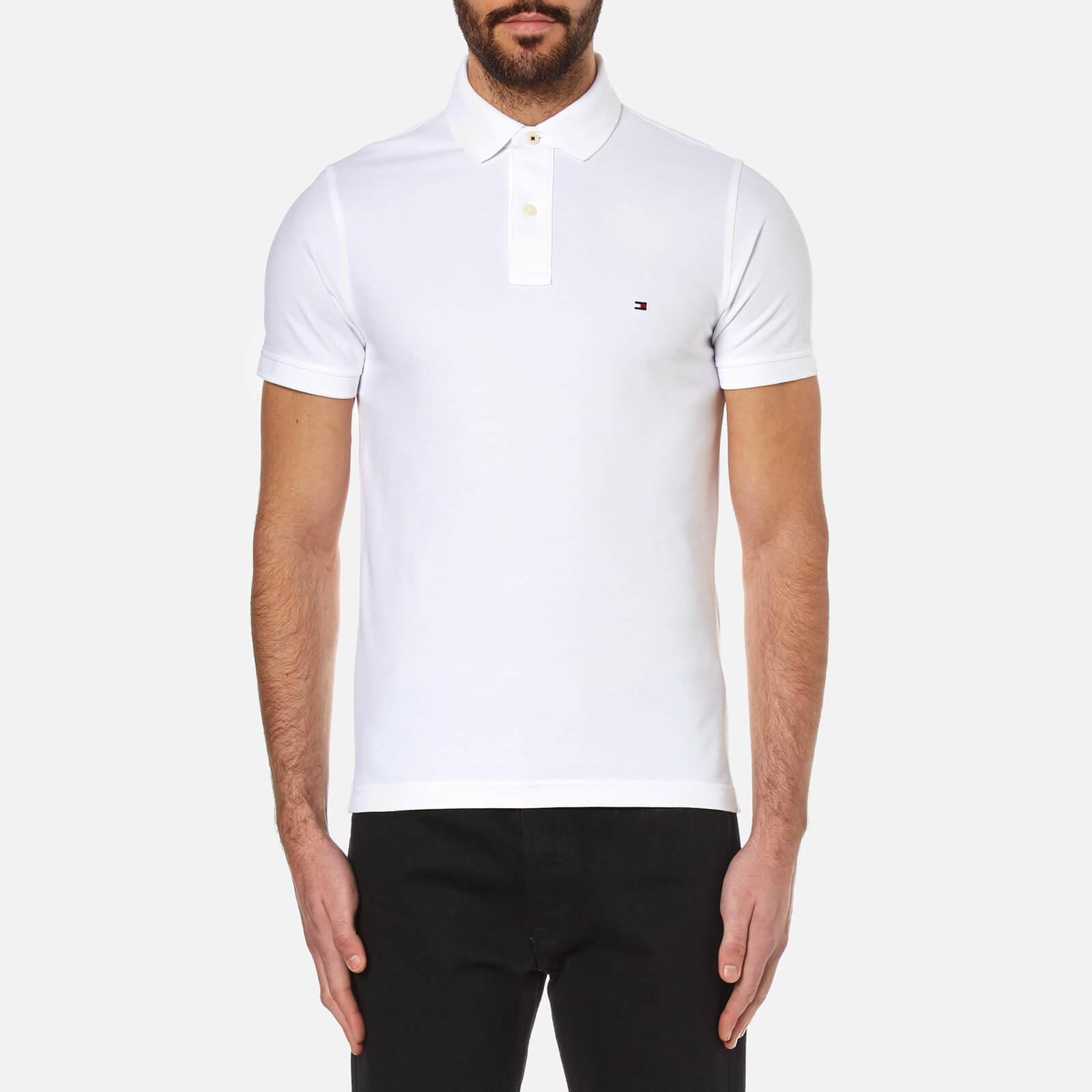 b6726a08 Tommy Hilfiger White Slim Fit Polo Shirt in White for Men - Lyst