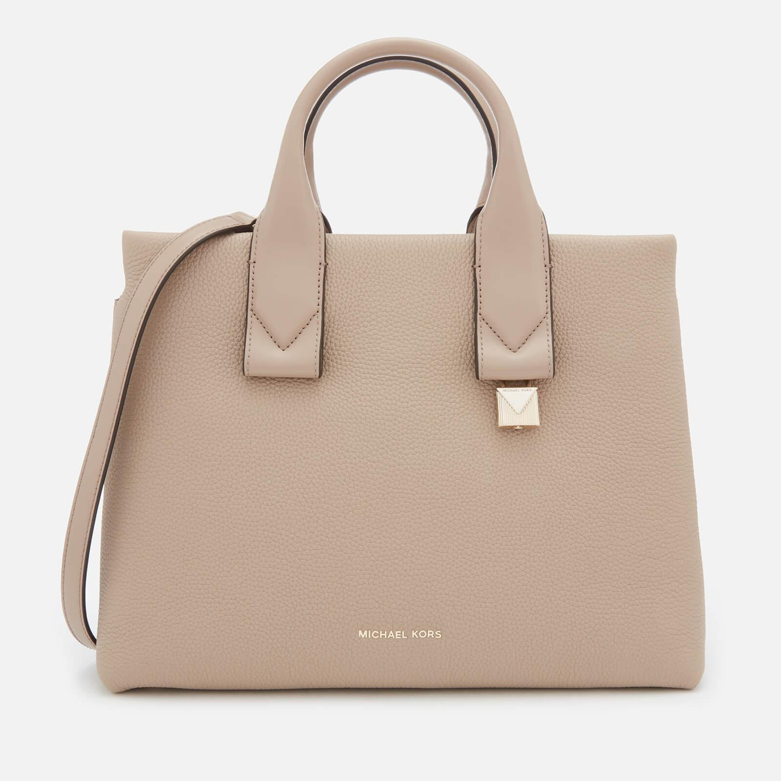 Lyst - MICHAEL Michael Kors Rollins Large Satchel in Natural - Save 17% 6923158ce01f8