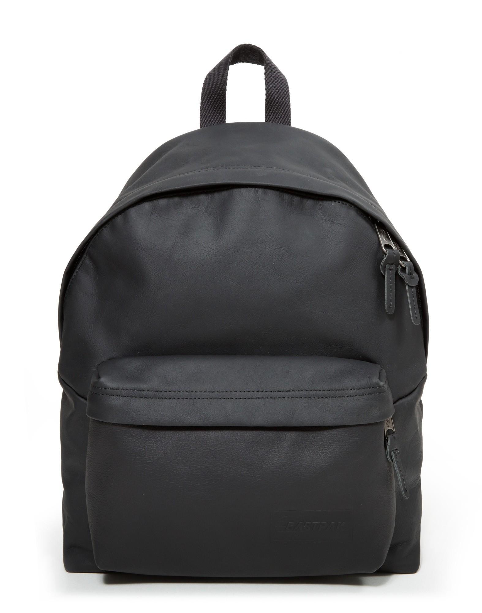 Leather Eastpak Backpack: Eastpak Padded Pak'r Leather Backpack Black In Black For