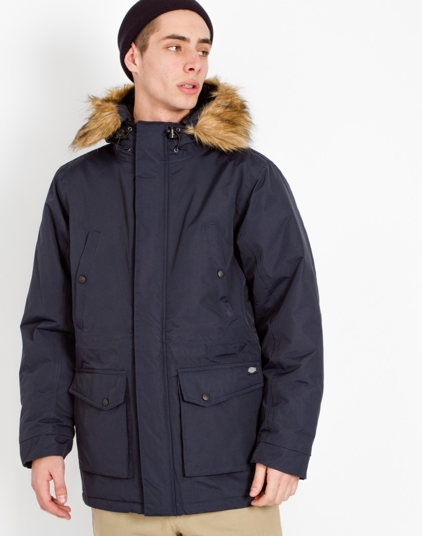 Dickies Curtis Parka Jacket Navy In Blue For Men Lyst