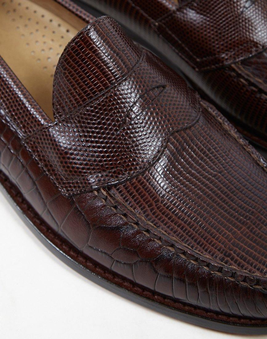 9293491c455 Weejun Logan X Engineered Garments Croc Loafer Brown in Brown for Men
