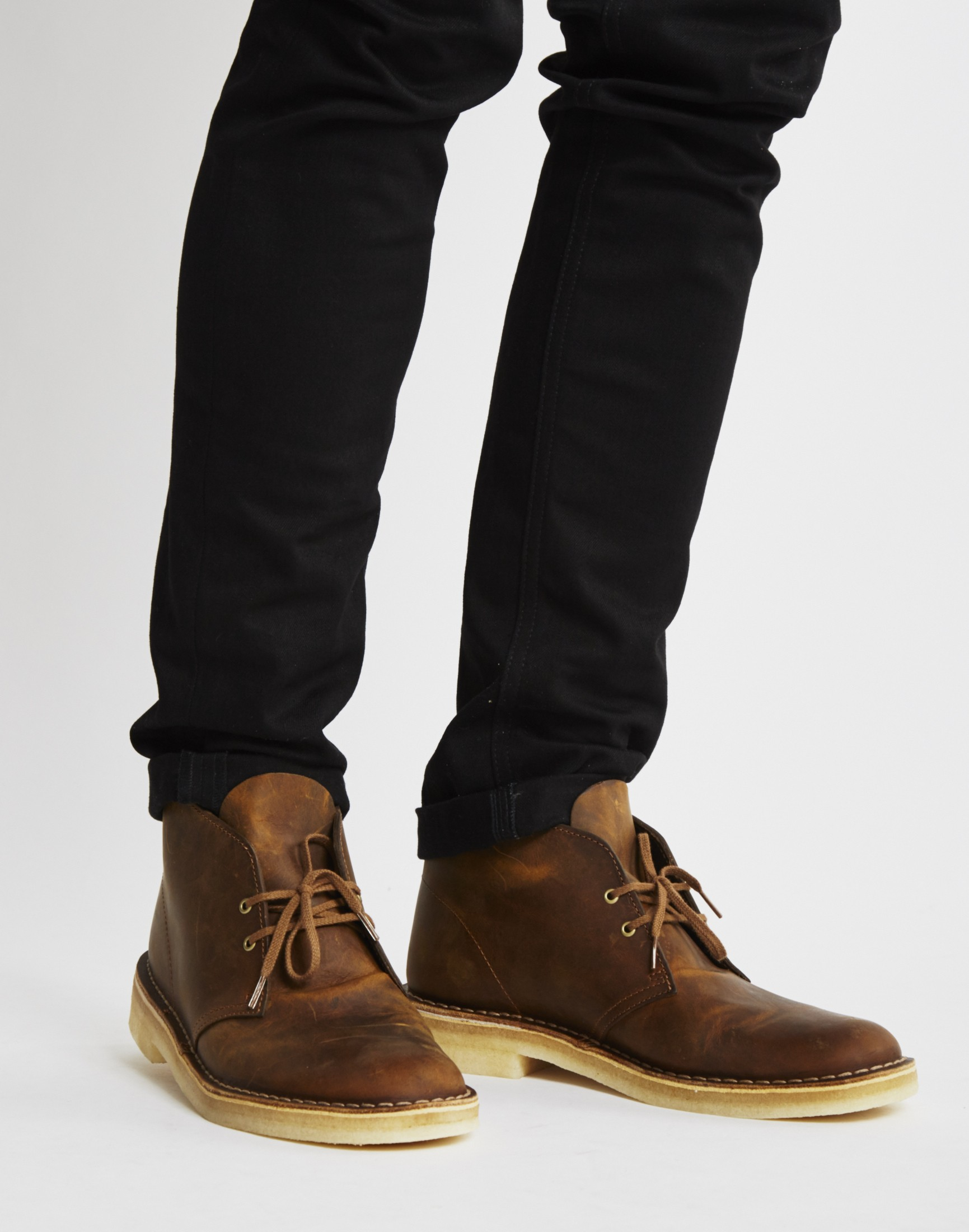 Clarks Leather Desert Boot In Brown For Men Lyst