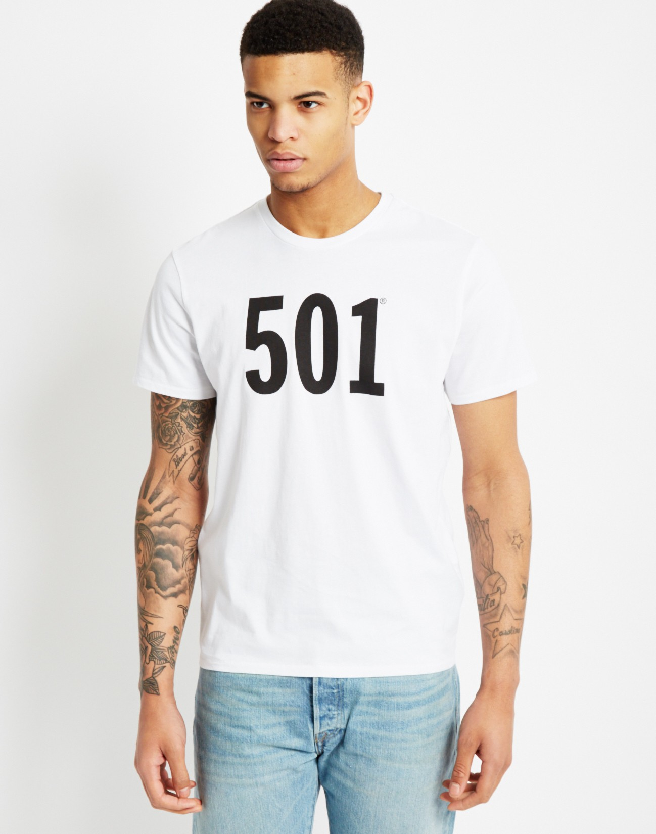 Lyst Levi 39 S Graphic Set T Shirt White In Black For Men