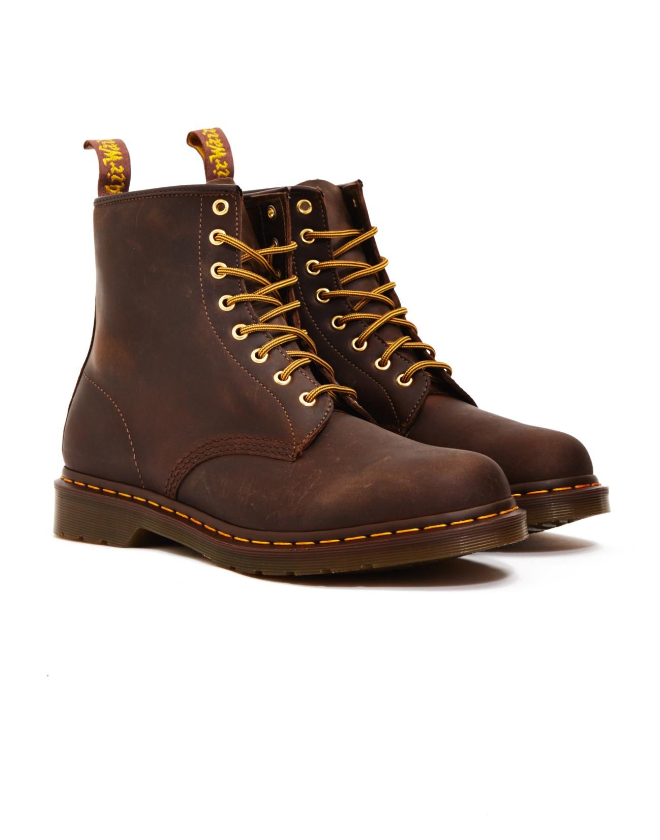 dr martens 8 eye rugged boots brown in brown for men lyst. Black Bedroom Furniture Sets. Home Design Ideas
