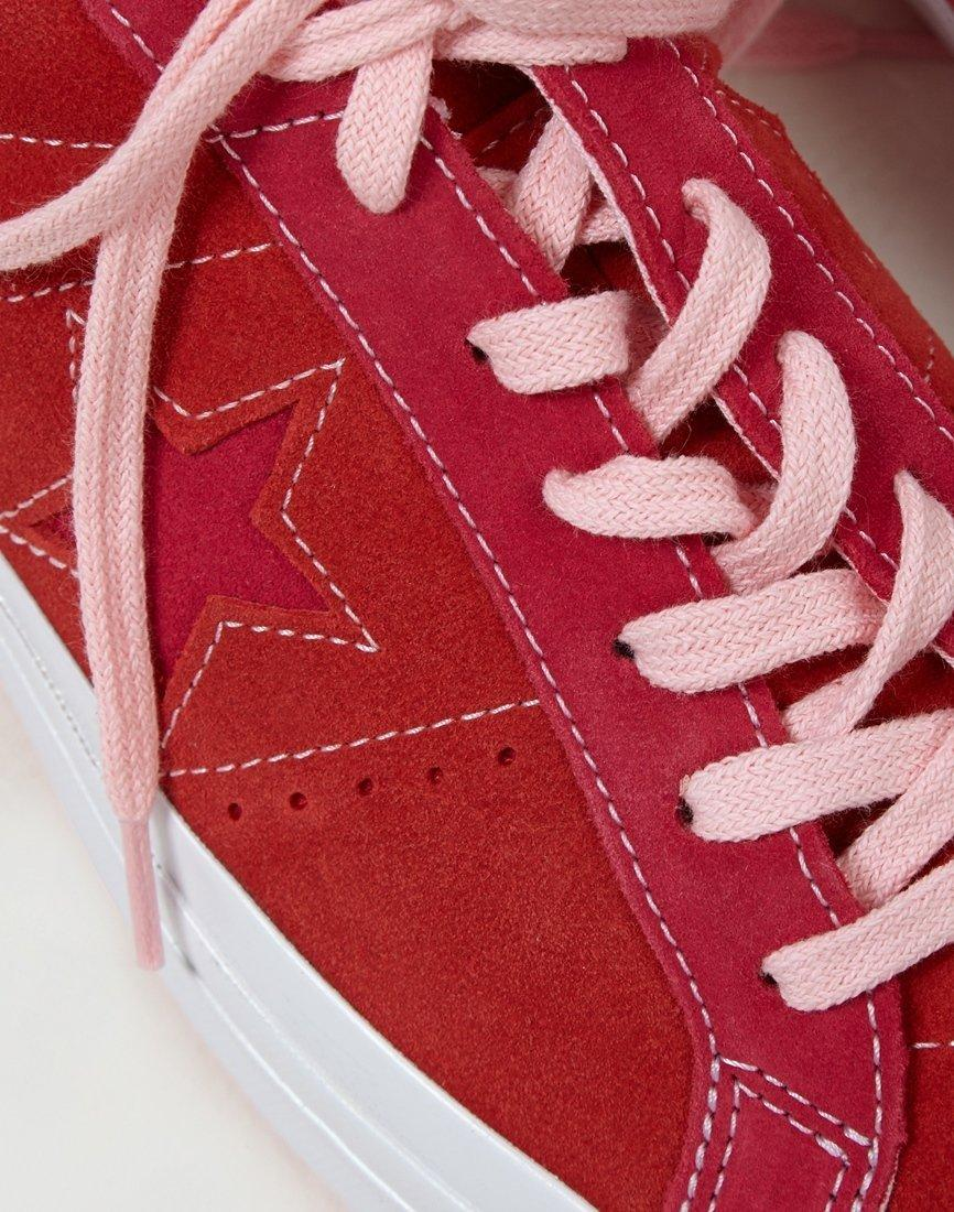 c0e3f257c27c Lyst - Converse One Star Ox Low Red Pink in Red for Men