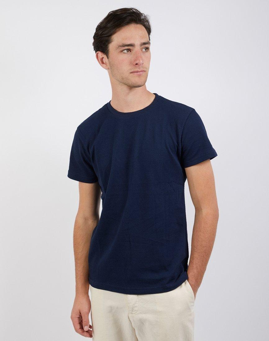 77b5e0924e01 The Idle Man Bubble Texture Tshirt Navy in Blue for Men - Lyst