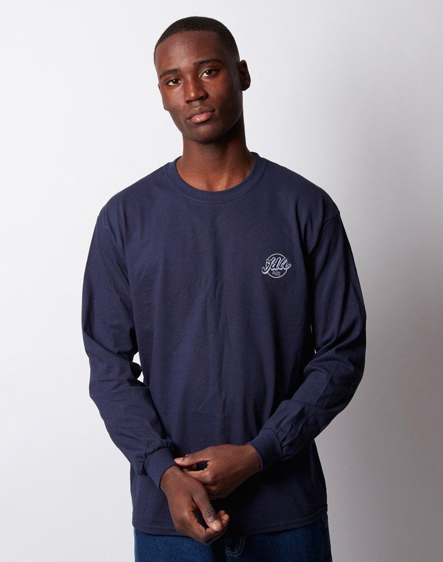 9ecc2f4735fa The Idle Man Jimmy Long Sleeve Tshirt Navy in Blue for Men - Lyst